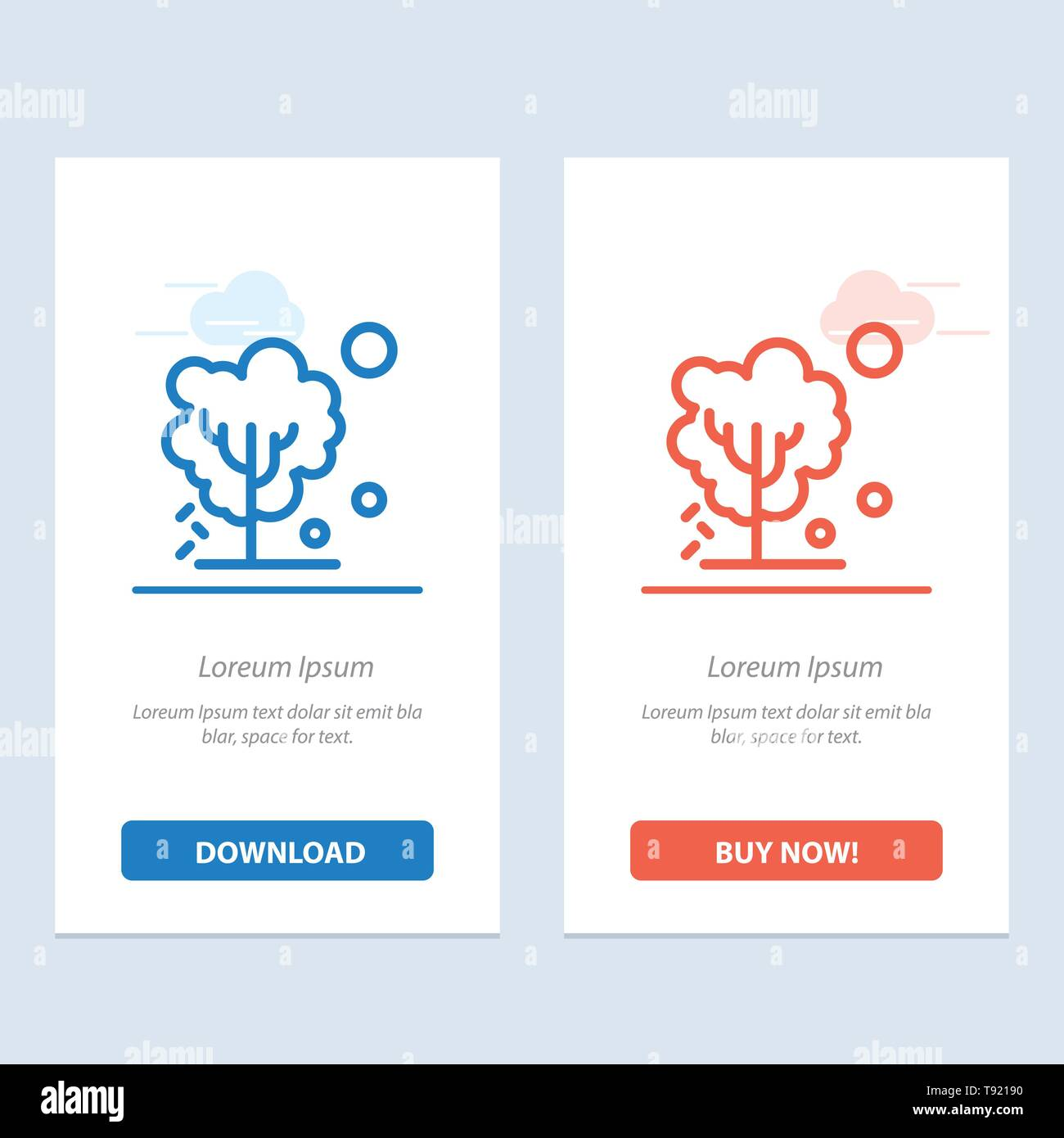 Dry, Global, Soil, Tree, Warming  Blue and Red Download and Buy Now web Widget Card Template - Stock Image