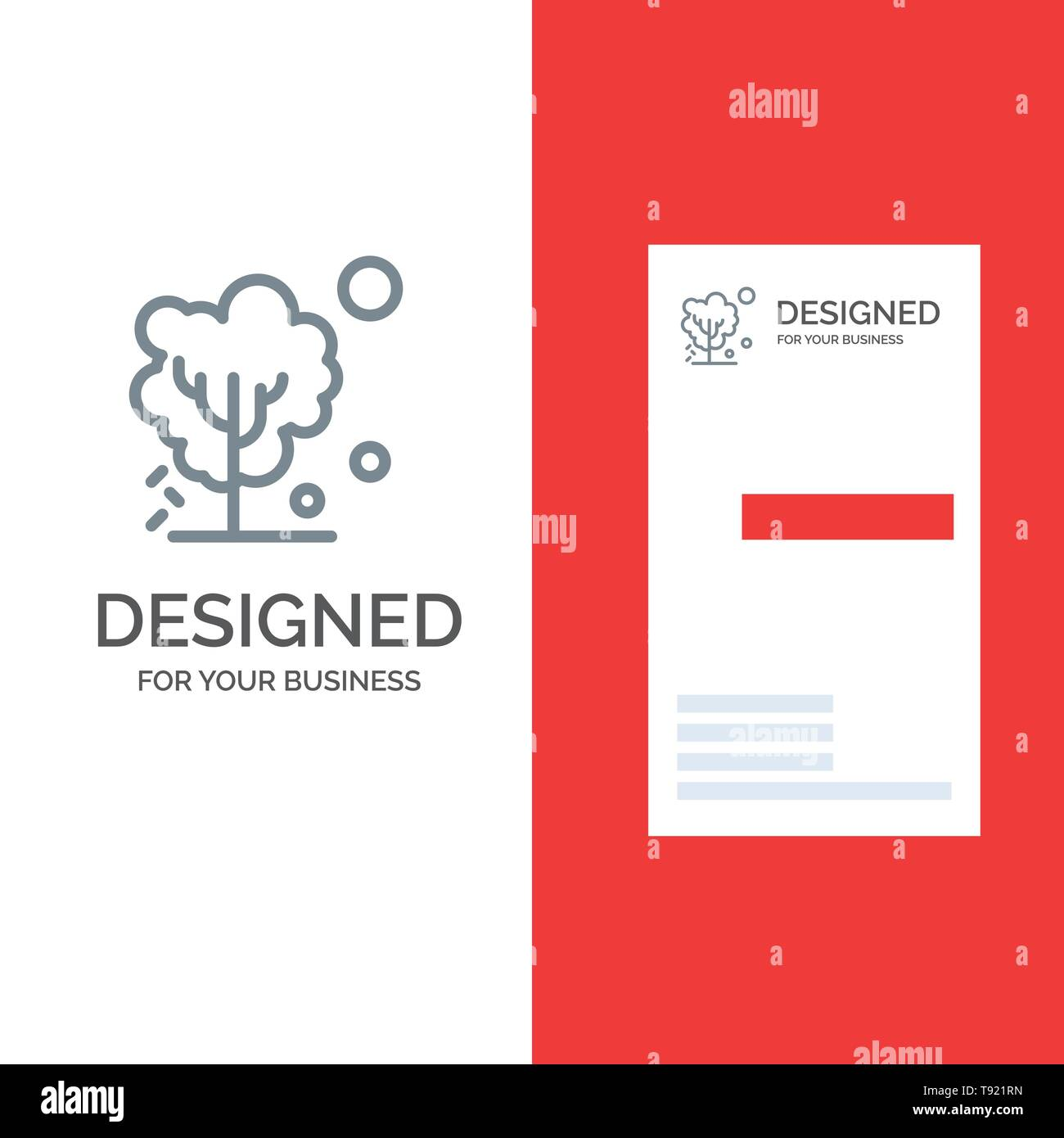 Dry, Global, Soil, Tree, Warming Grey Logo Design and Business Card Template - Stock Image