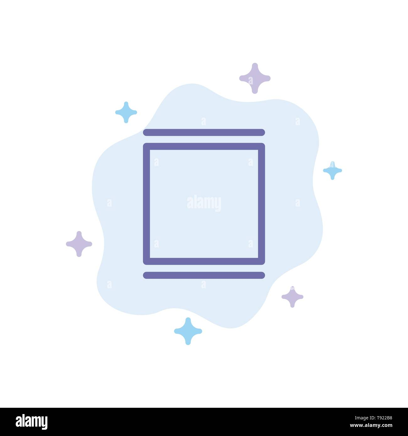 Gallery, Instagram, Sets, Timeline Blue Icon on Abstract Cloud Background - Stock Image