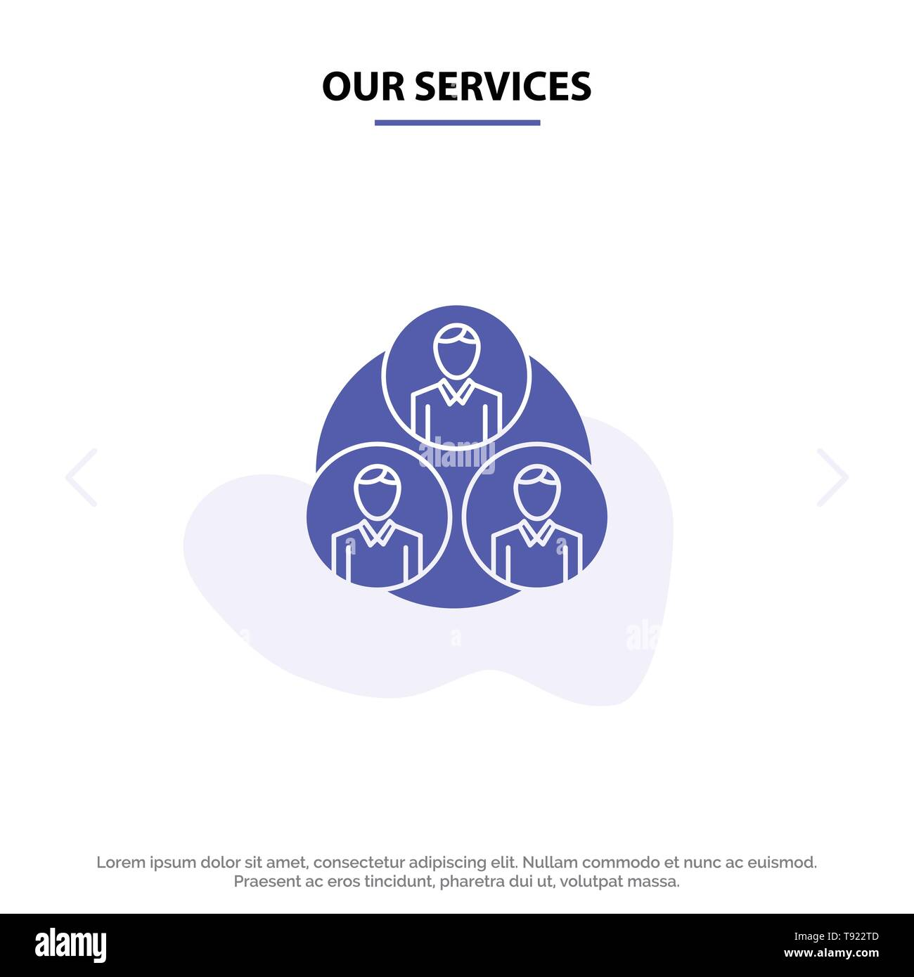 Our Services Staff, Gang, Clone, Circle Solid Glyph Icon Web