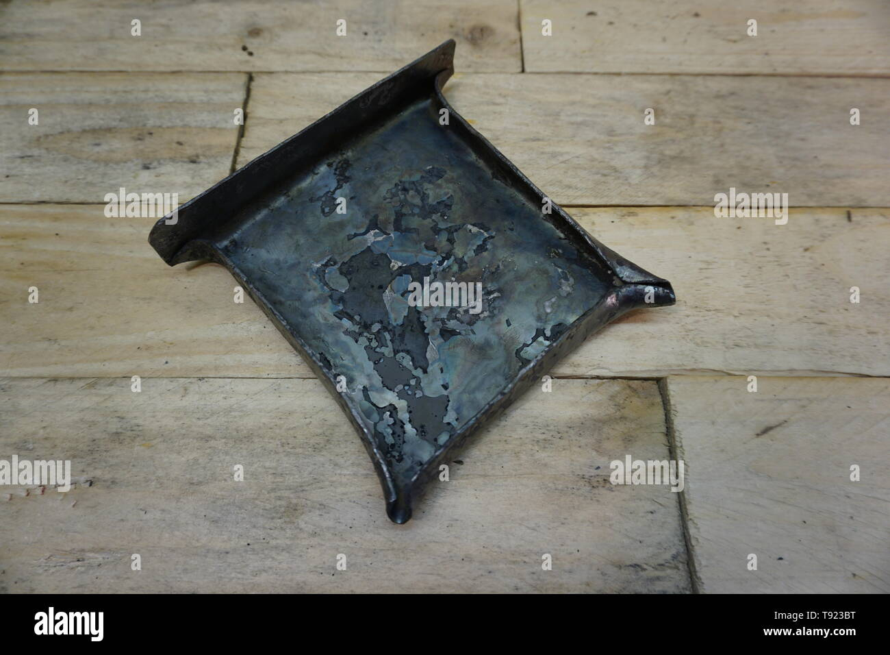 viking pewter and lead casting tray from hedeby (haithabu) reconstruction by daegrad tools - Stock Image