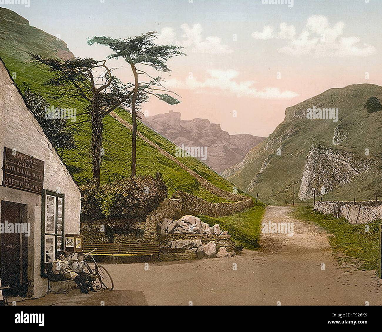 Winnats Pass, Castleton, Derbyshire, England. Stock Photo