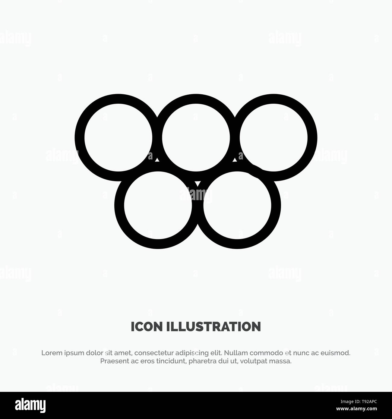 Ancient, Greece, Greek, Olympic Games Line Icon Vector - Stock Vector