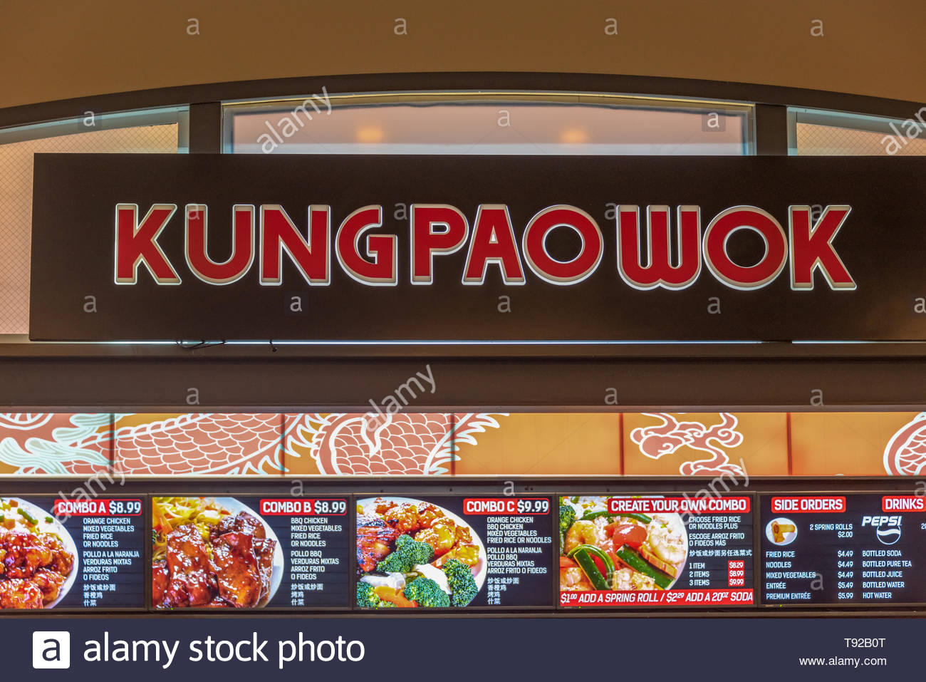 Kung Pao Wok Chinese Restaurant In New York Usa With Its