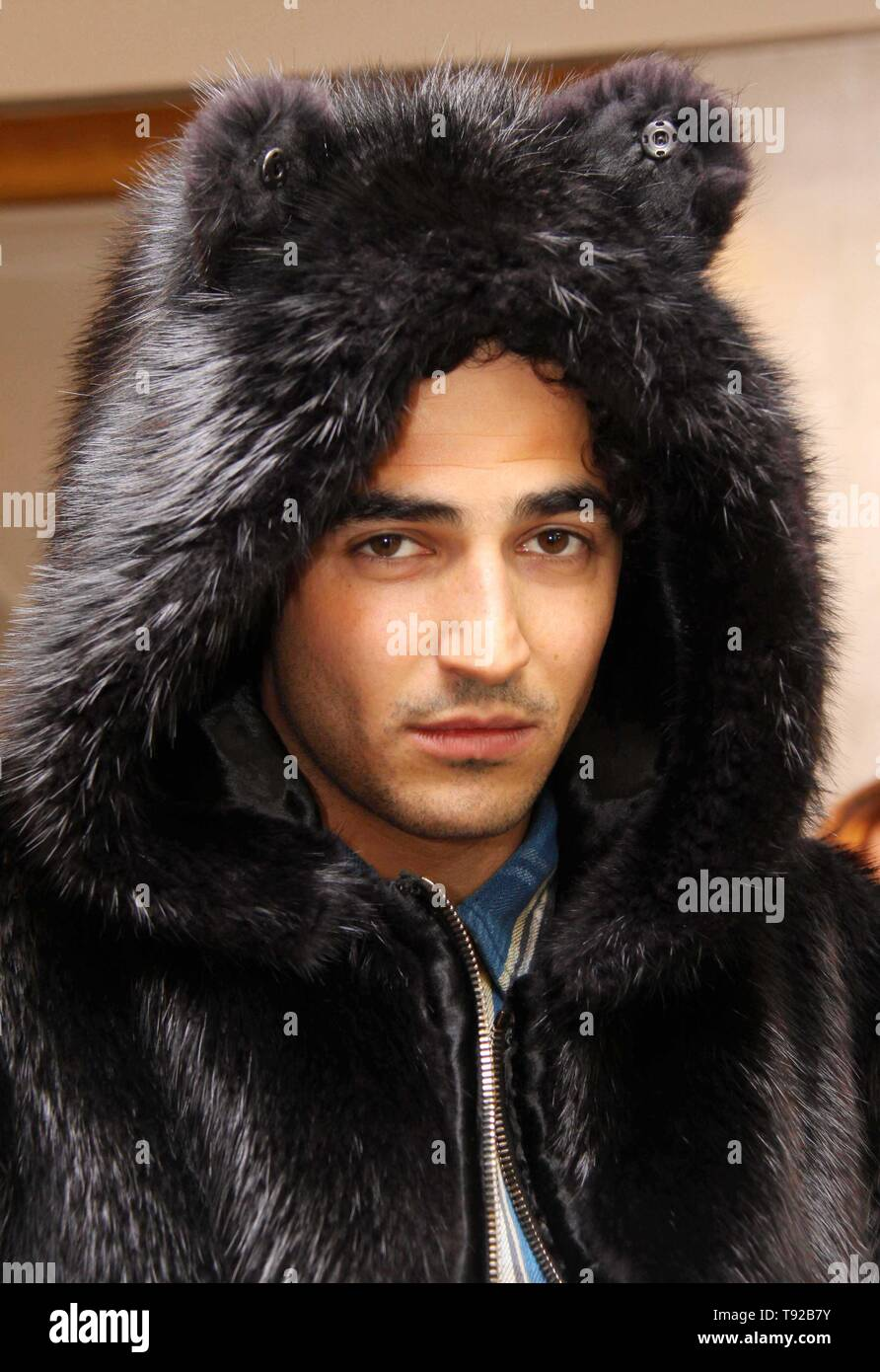 10-22-2008 Zac Posen previews his Fall/Winter 2008 fur collection at the Maximillian Fur Salon at Bloomingdale's flagship store on 59 Street. Photo by Adam Scull-PHOTOlink.net Stock Photo
