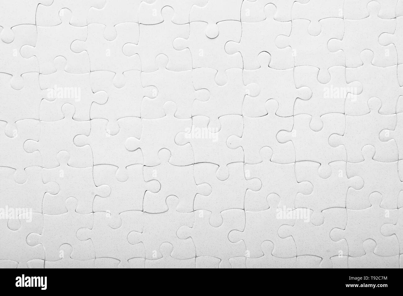 Complete jigsaw puzzle, closeup - Stock Image