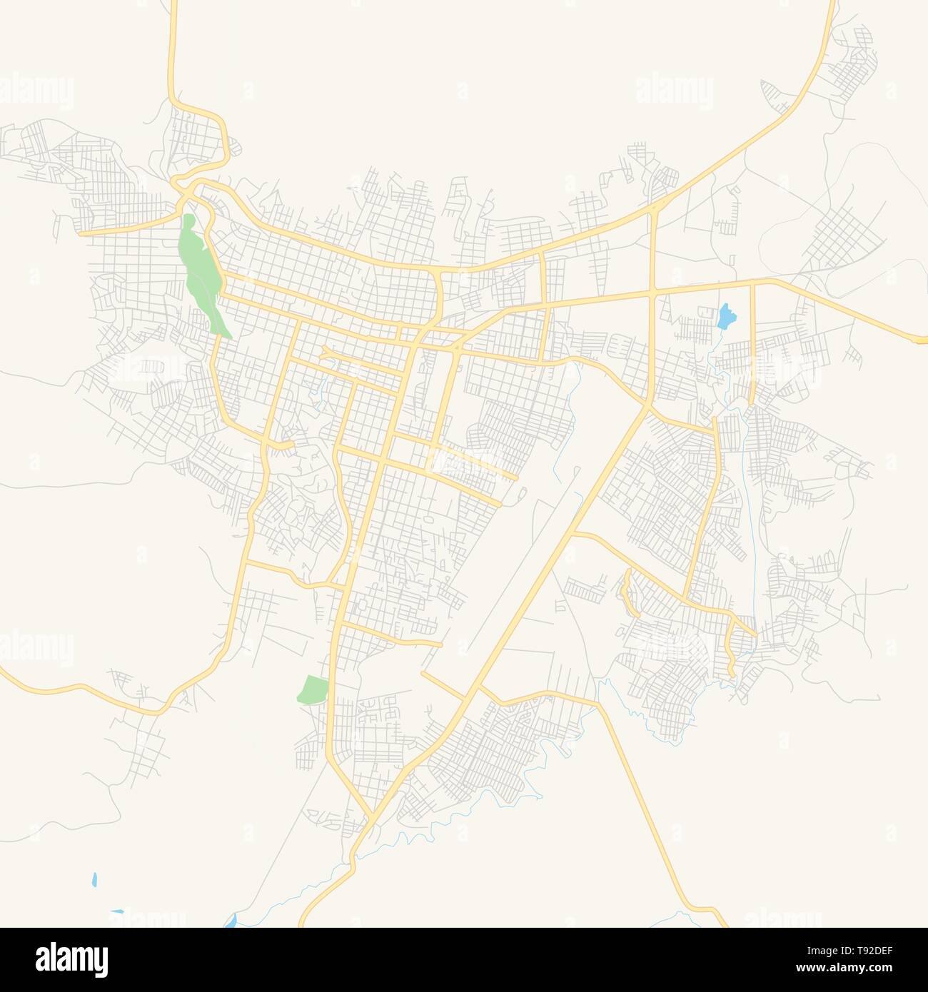 Empty vector map of Uruapan, Michoacán, Mexico, printable ...