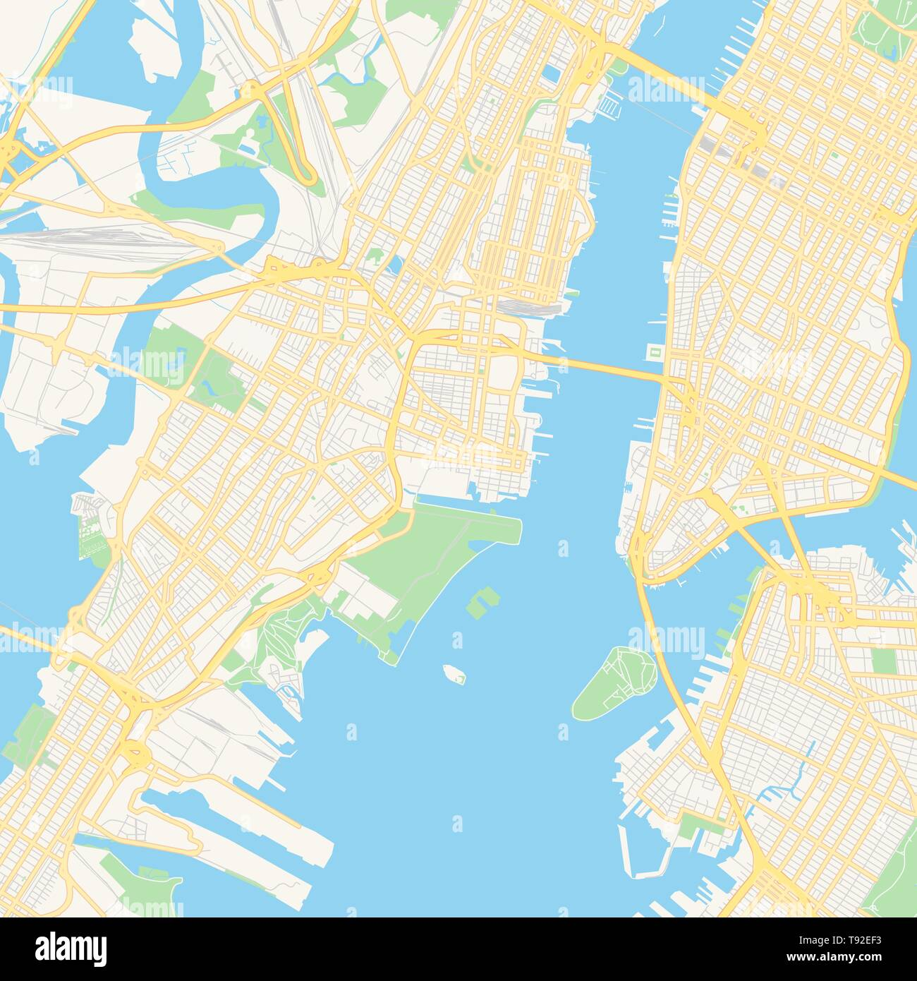 Empty vector map of Jersey City, New Jersey, USA, printable ...