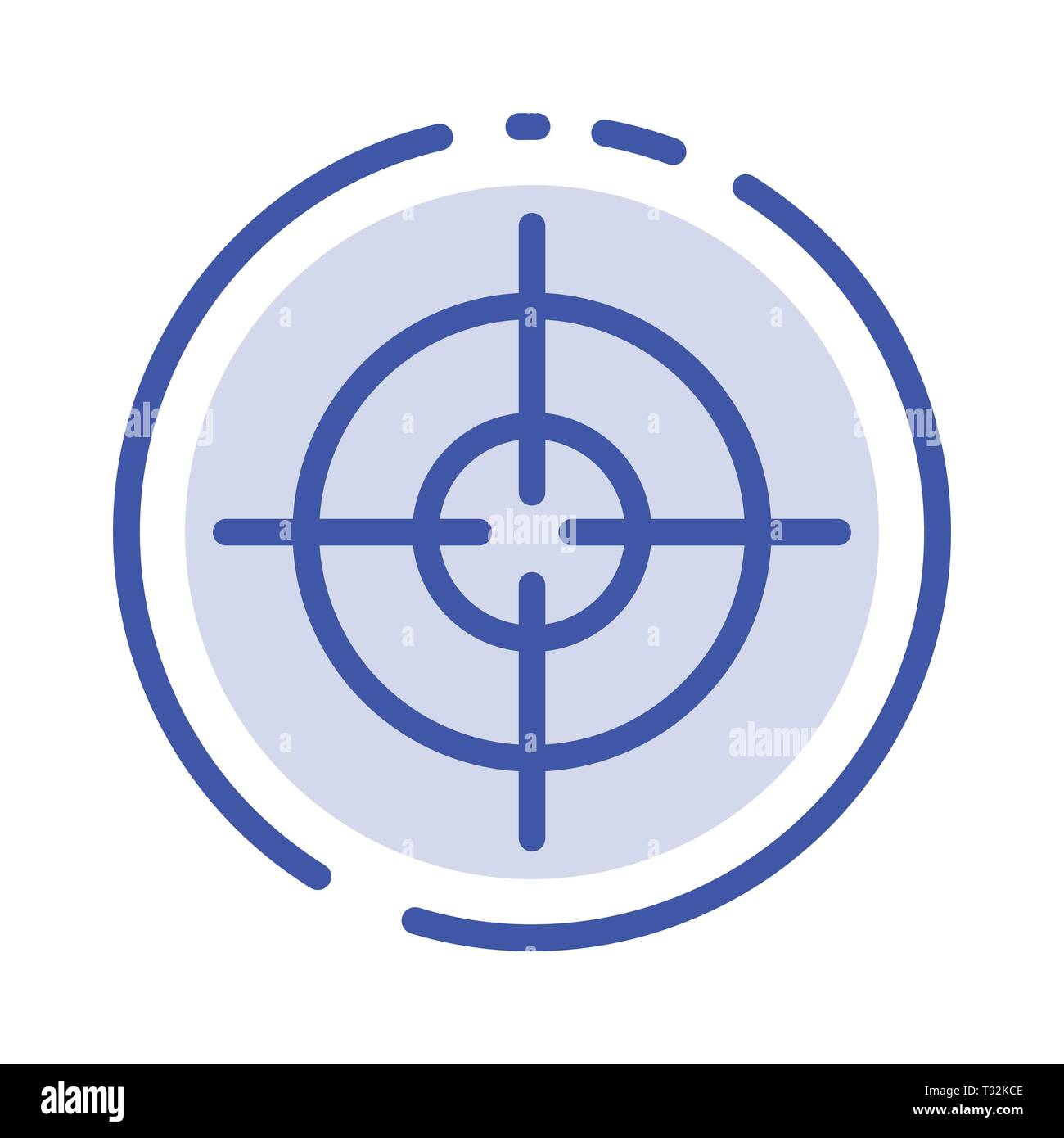 target aim interface blue dotted line line icon stock vector image art alamy alamy