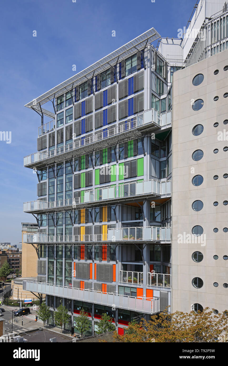 The new Cancer Centre building at Guys Hospital, London, designed by Rogers Stirk and Harbour. Stock Photo