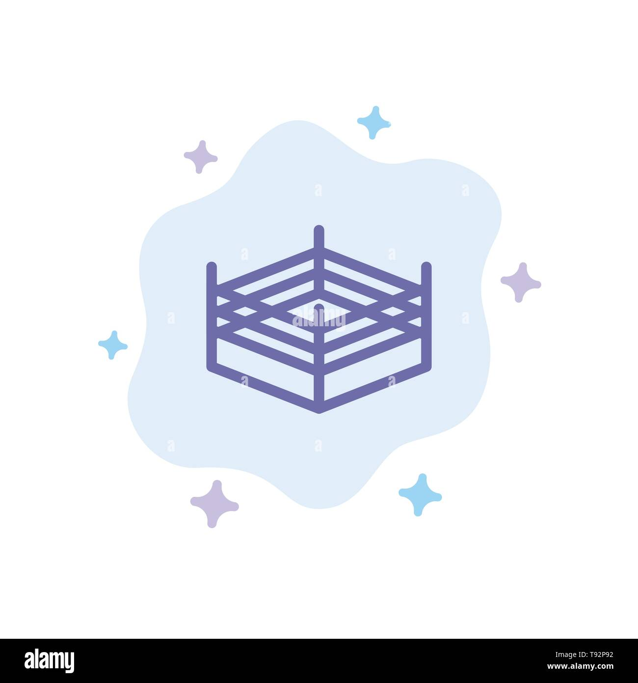 Boxing, Ring, Wrestling Blue Icon on Abstract Cloud Background - Stock Image