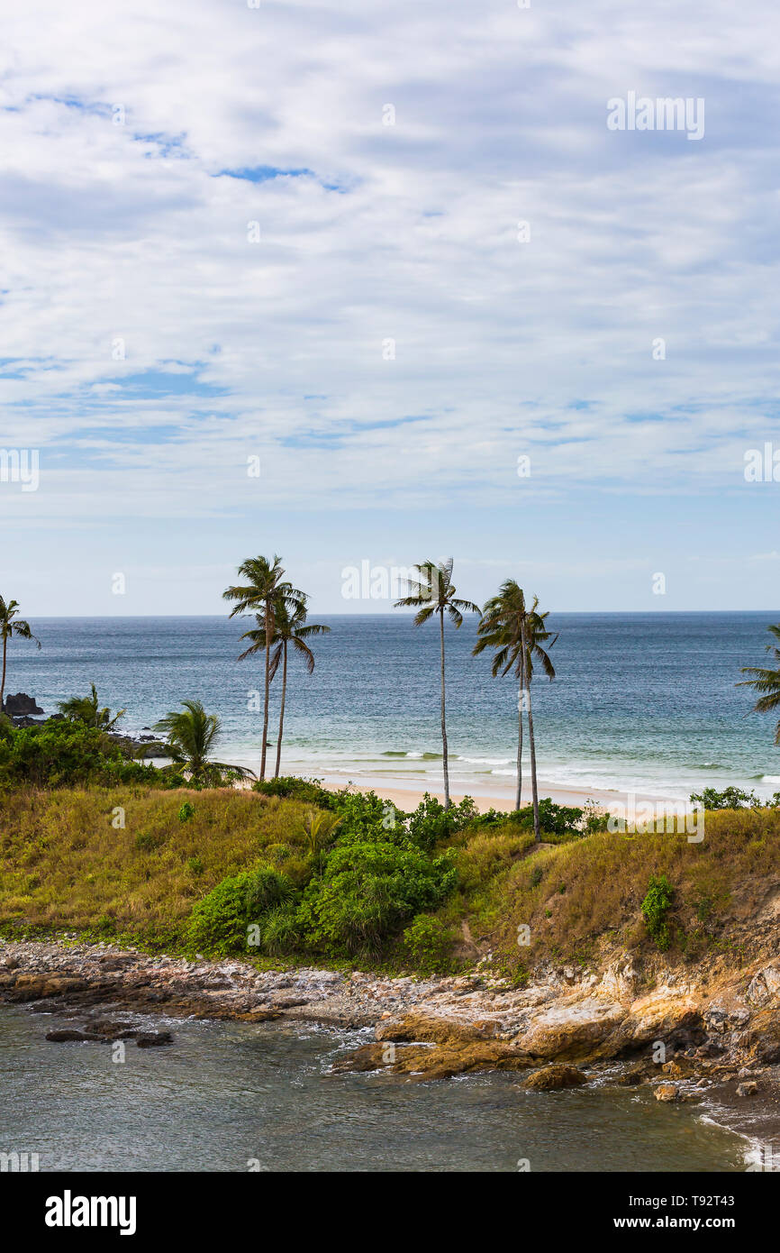 Coast of the South China Sea on the Philippine Islands. - Stock Image