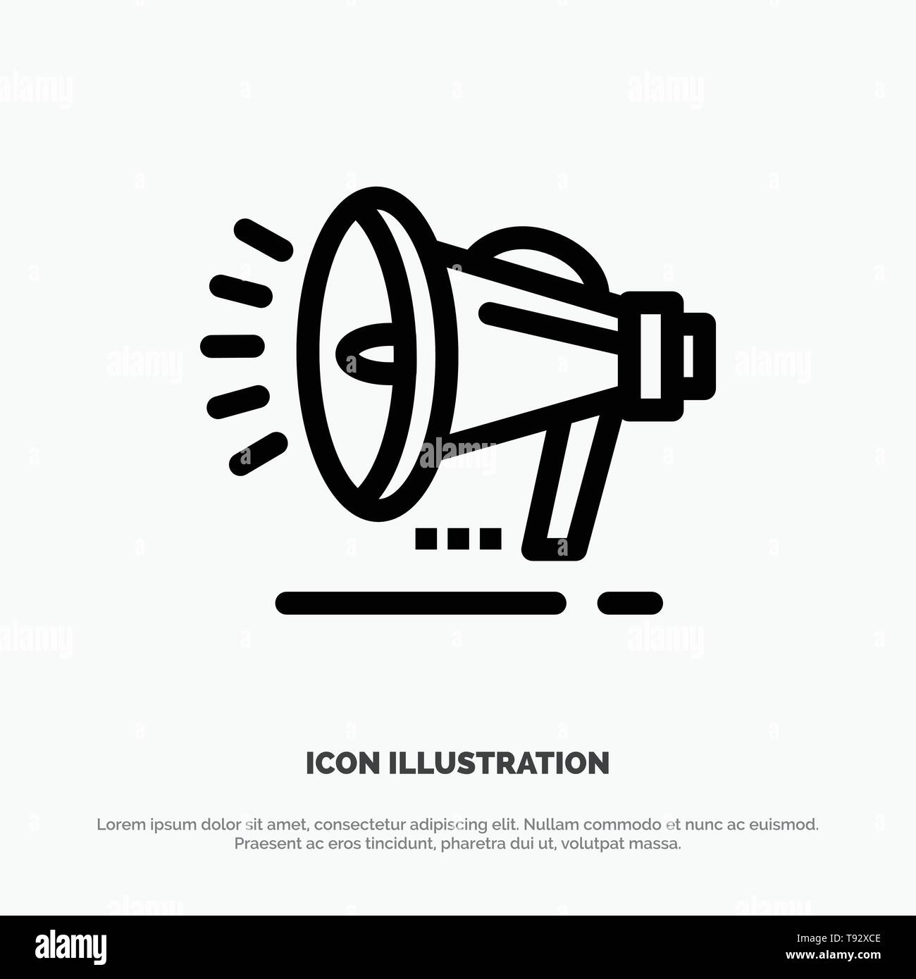 speaker loudspeaker voice announcement line icon vector stock vector image art alamy https www alamy com speaker loudspeaker voice announcement line icon vector image246541694 html