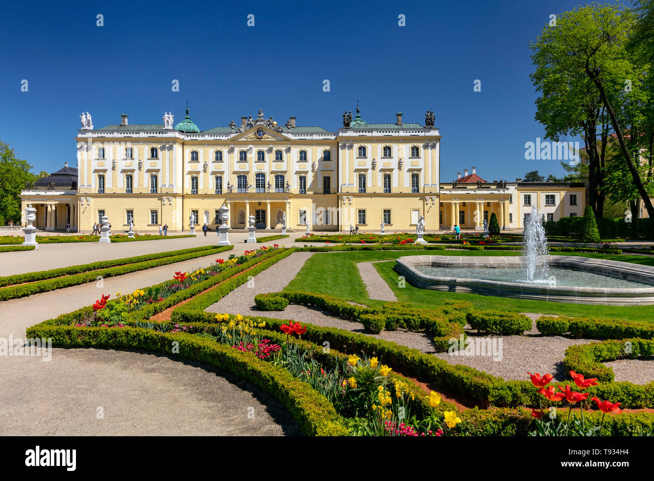 The Branicki Baroque palace and Medical University in Bialystok, Podlasie, Poland Stock Photo