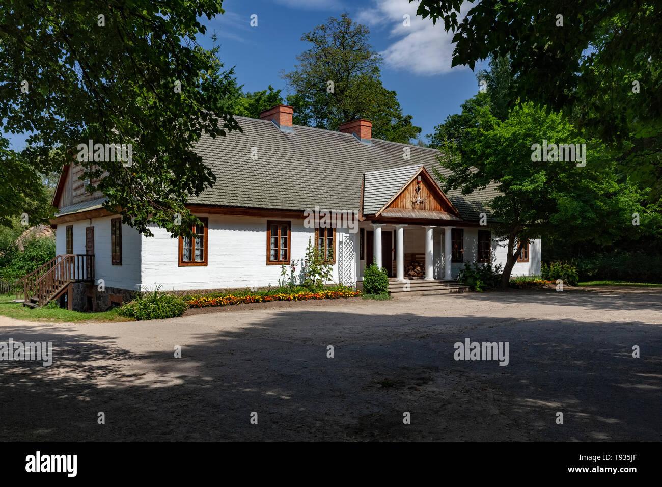 Ciechanowiec open-air museum, larch manor house, Podlasie, Poland, Europe - Stock Image
