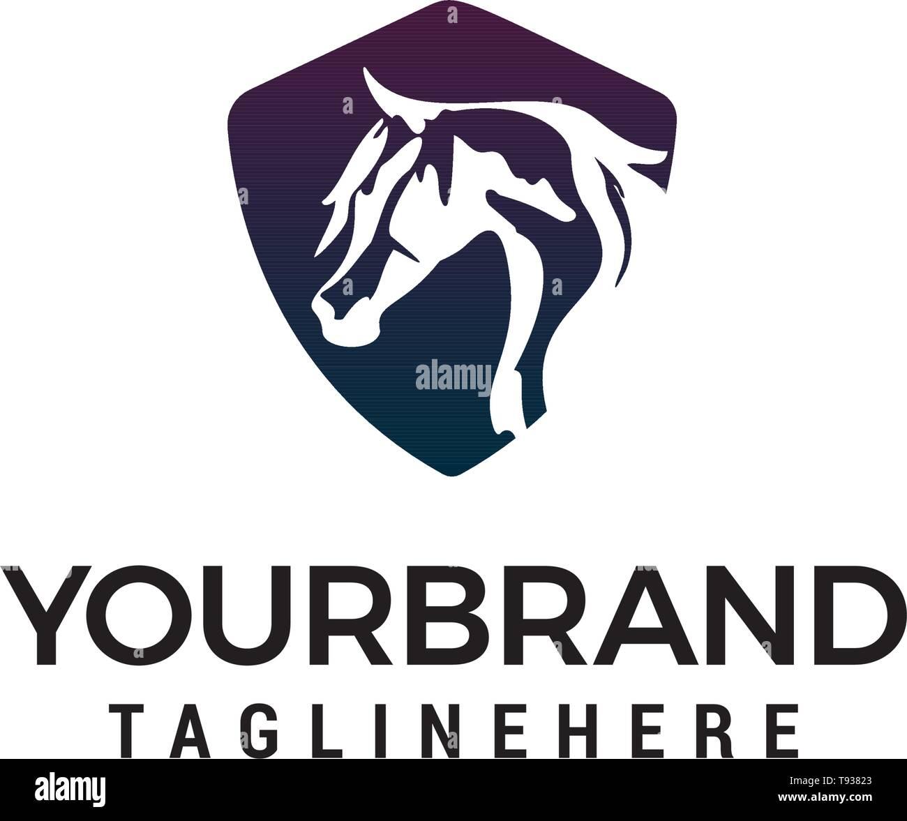 Horse Head Logo Design Concept Template Vector Stock Vector Image Art Alamy