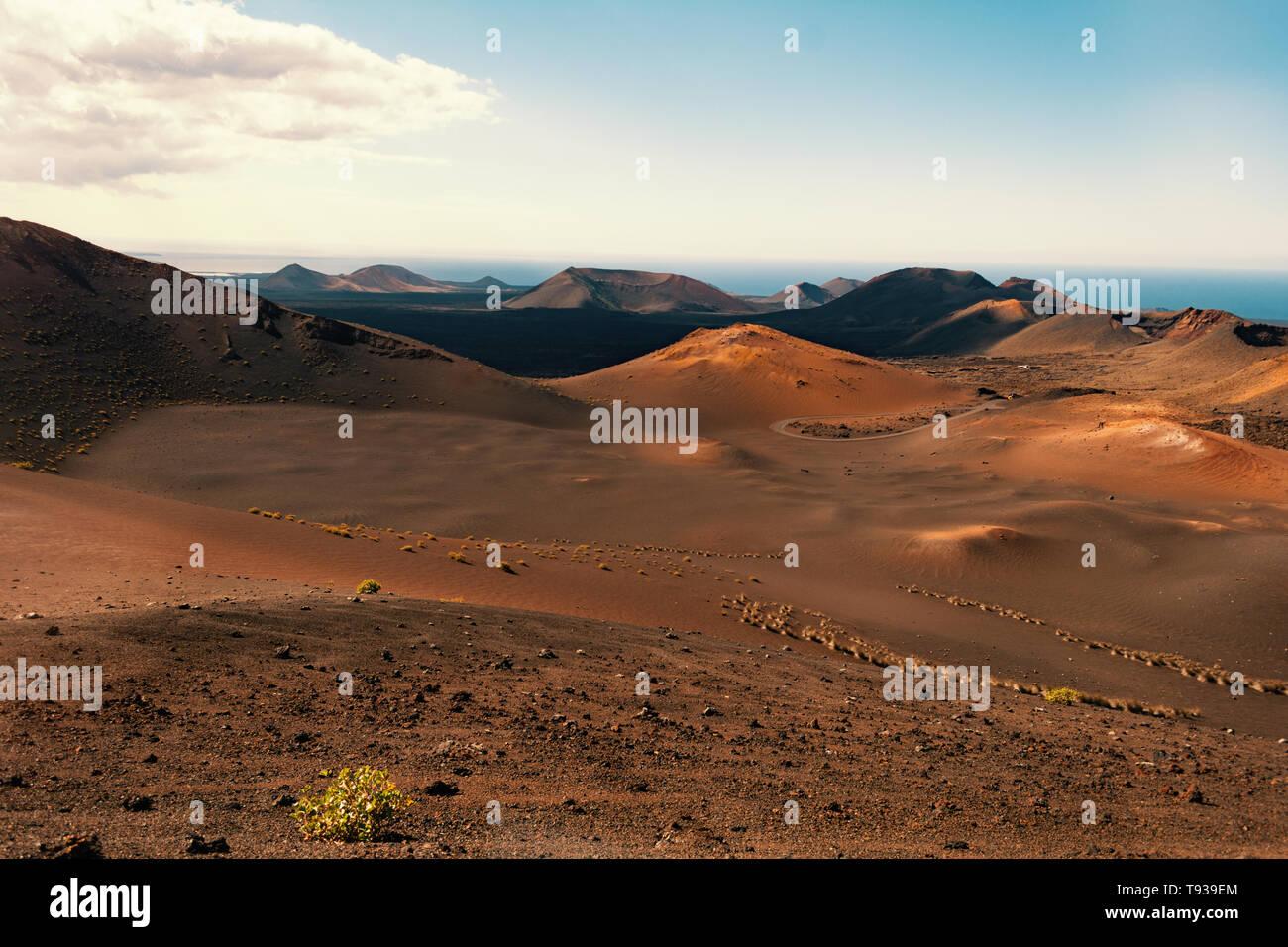 Insel Lanzarote wunderbare Natur Bilder vom Vulkan Gestein - Stock Image