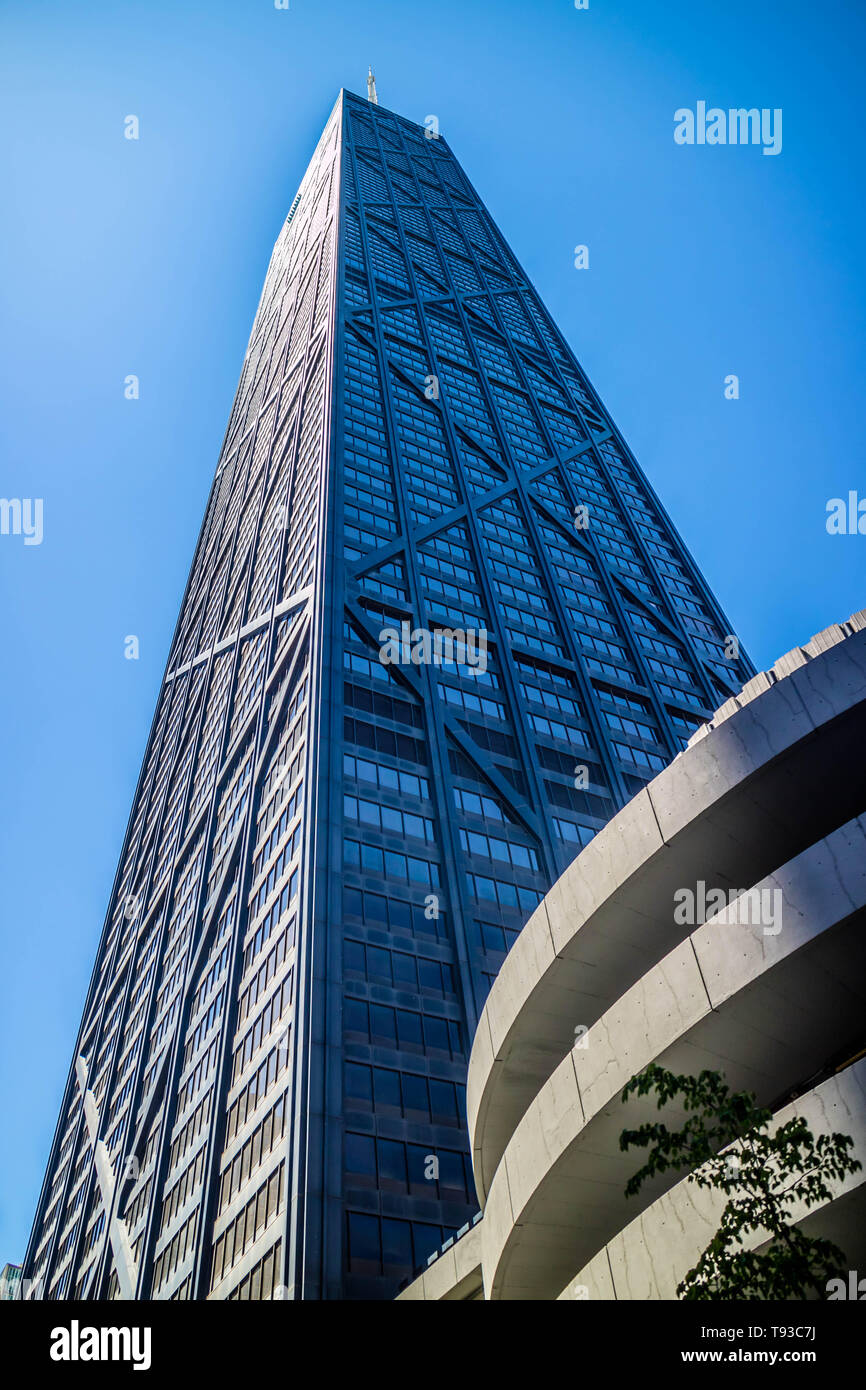 Chicago, IL, USA - July 8, 2018: The famous John Hancock Center - Stock Image