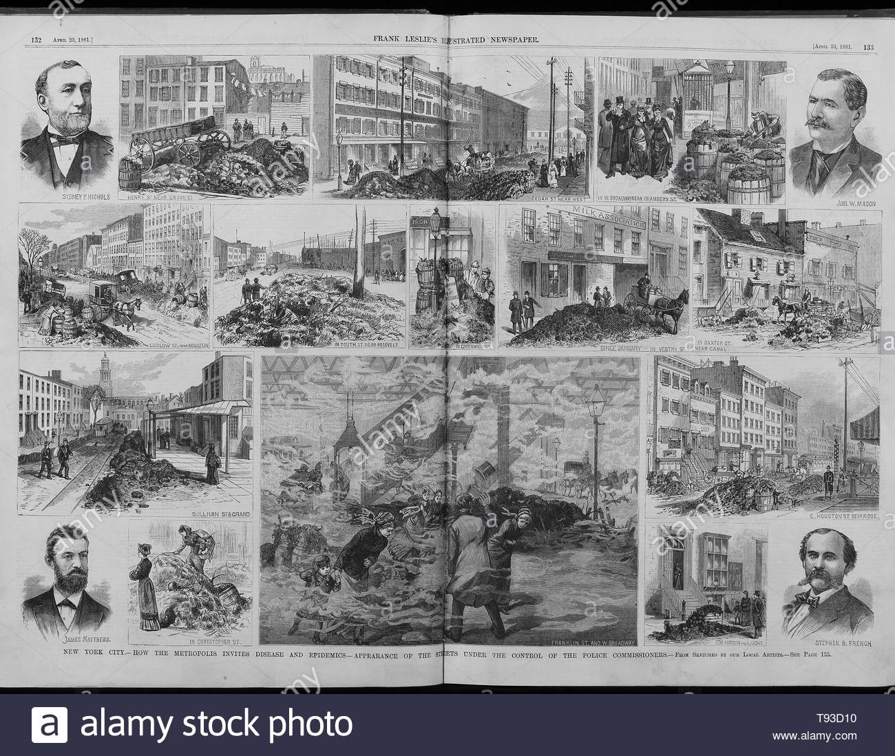 Anonymous-How the Metropolis Invites Disease and Epidemics - Appearance of the Streets under the Control of the Police Commissioners  From sketches by Local Artists - Stock Image