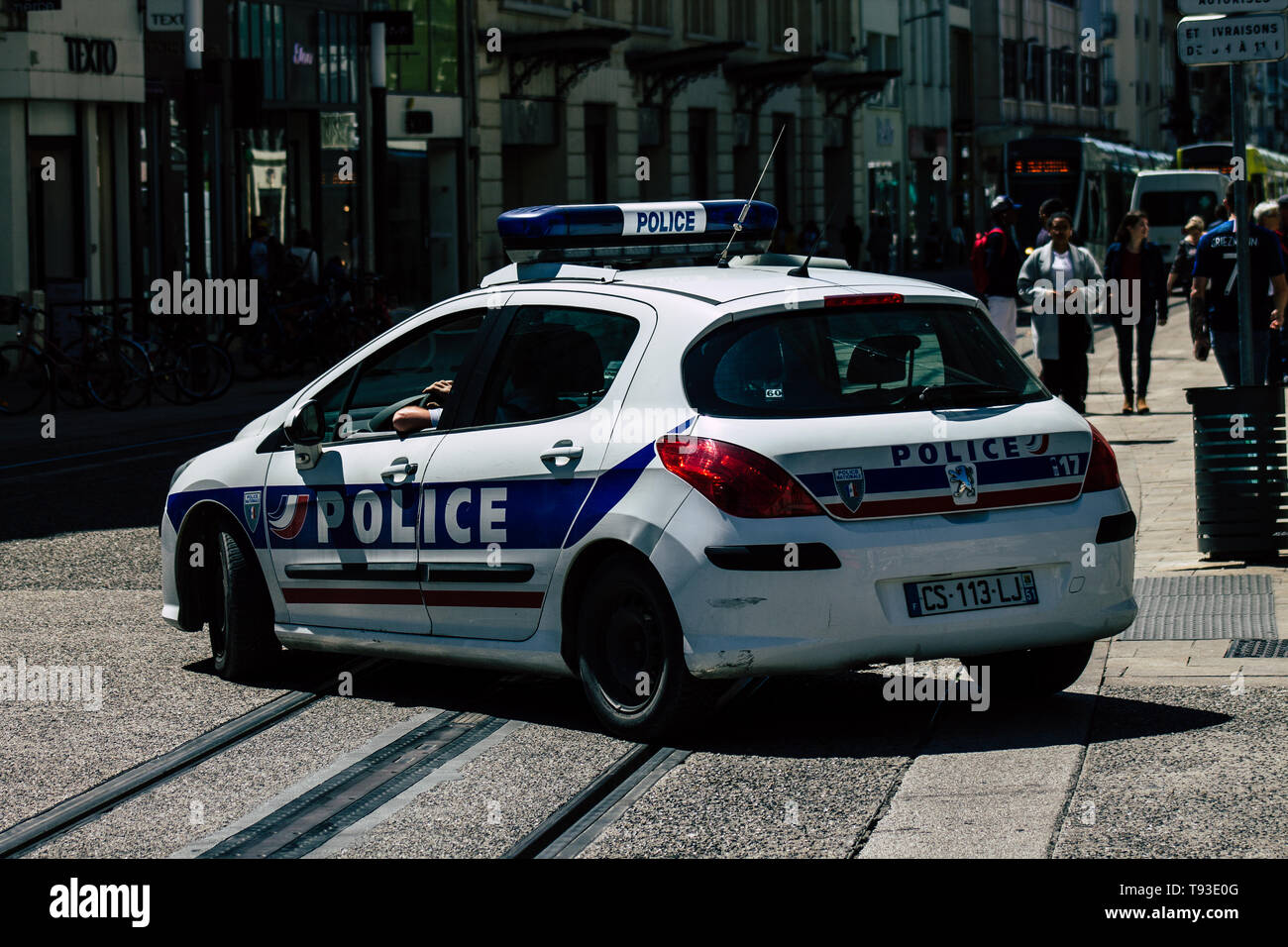 French Police Car Stock Photos French Police Car Stock Images Alamy