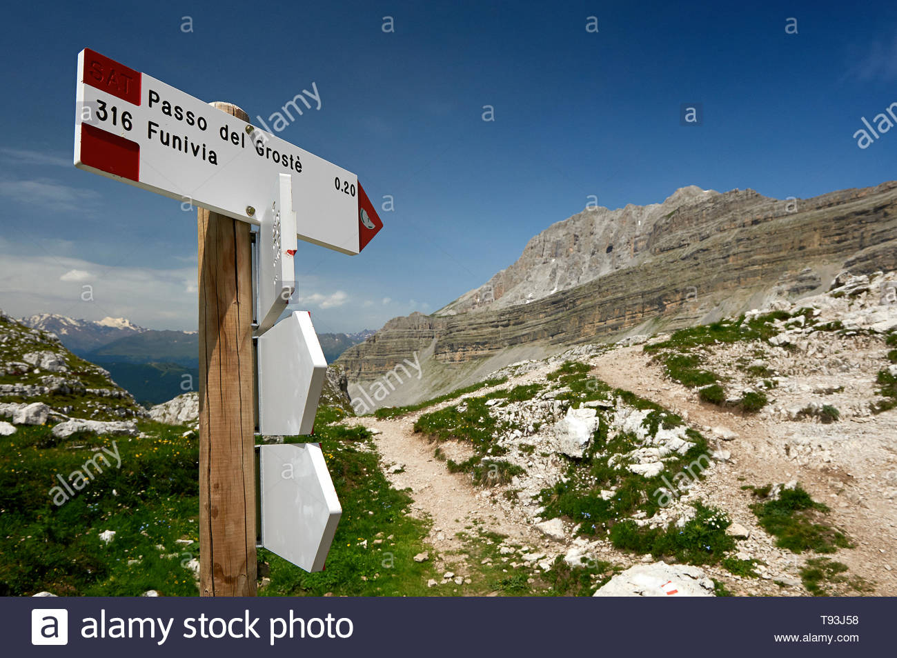 grostè mountain pass, dolomiti del brenta - Stock Image
