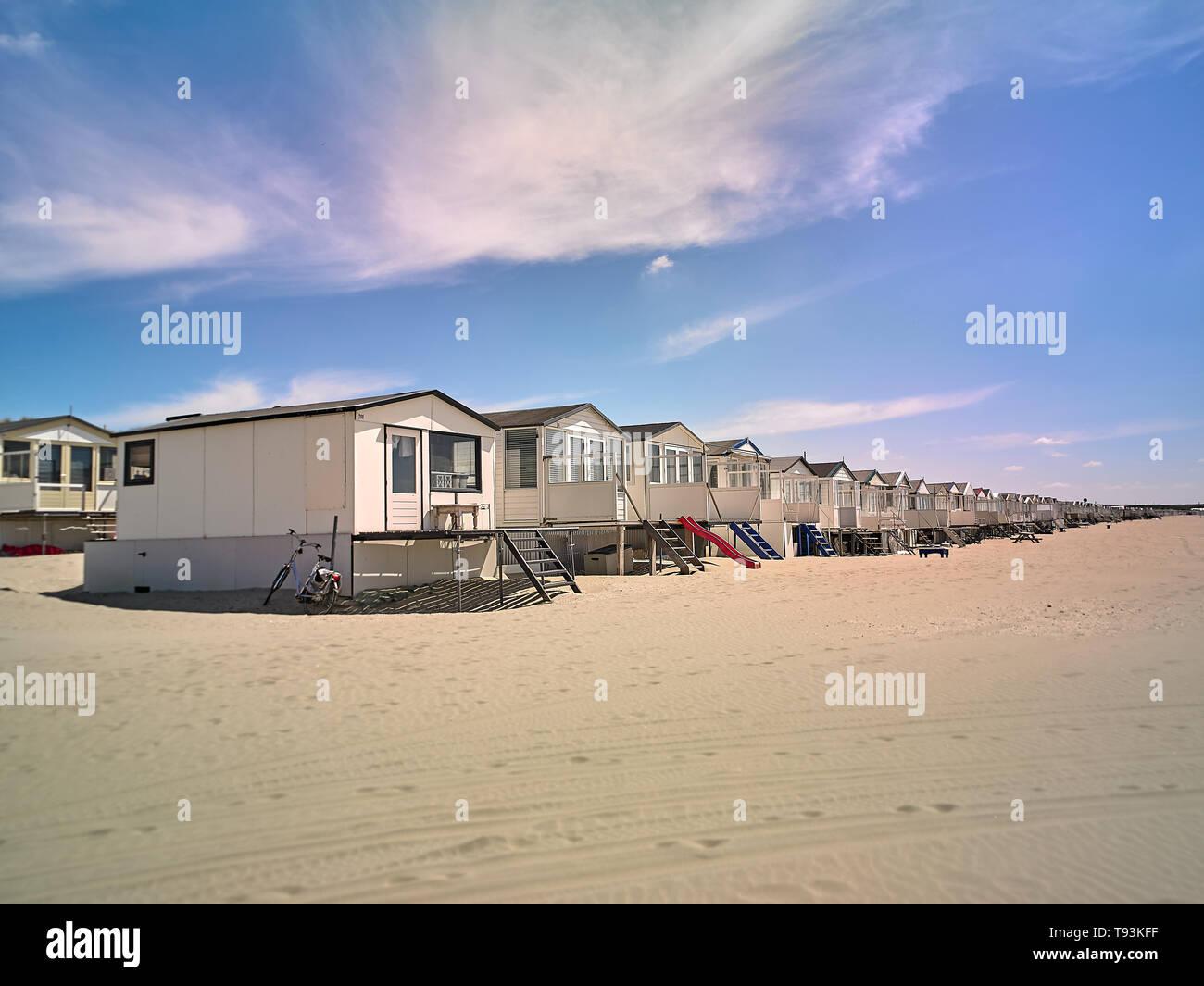 IJmuiderslag Beach of the cozy small beachtown: IJmuiden at Sea North Holland The Netherlands - Stock Image