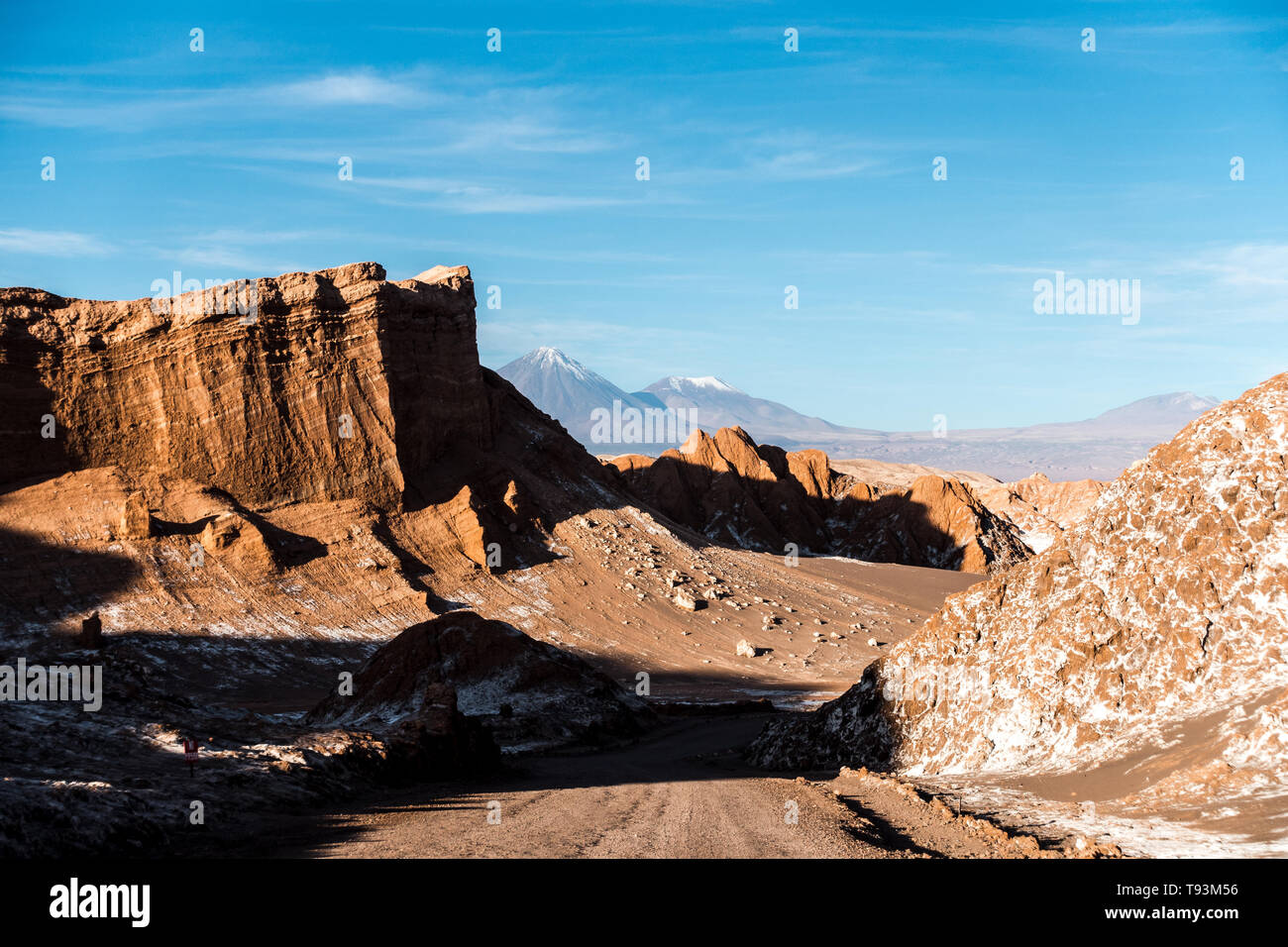 Volcano, Moon Valley, Atacama, Chile. One of the dryest places in the world. - Stock Image