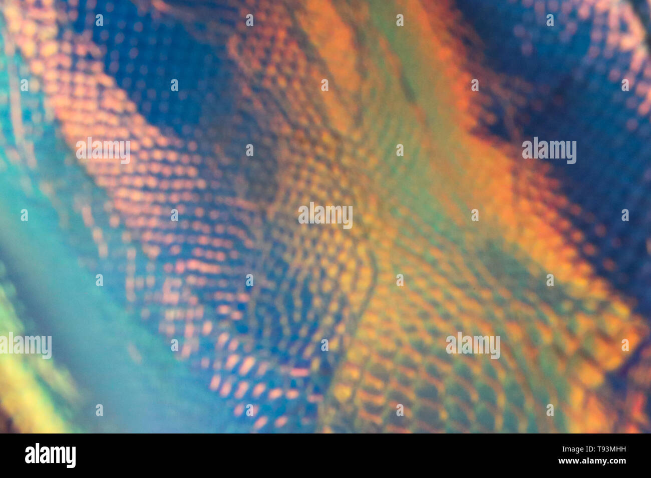 Abstract trendy holographic background with neon colors. Backdrop for your design. - Stock Image