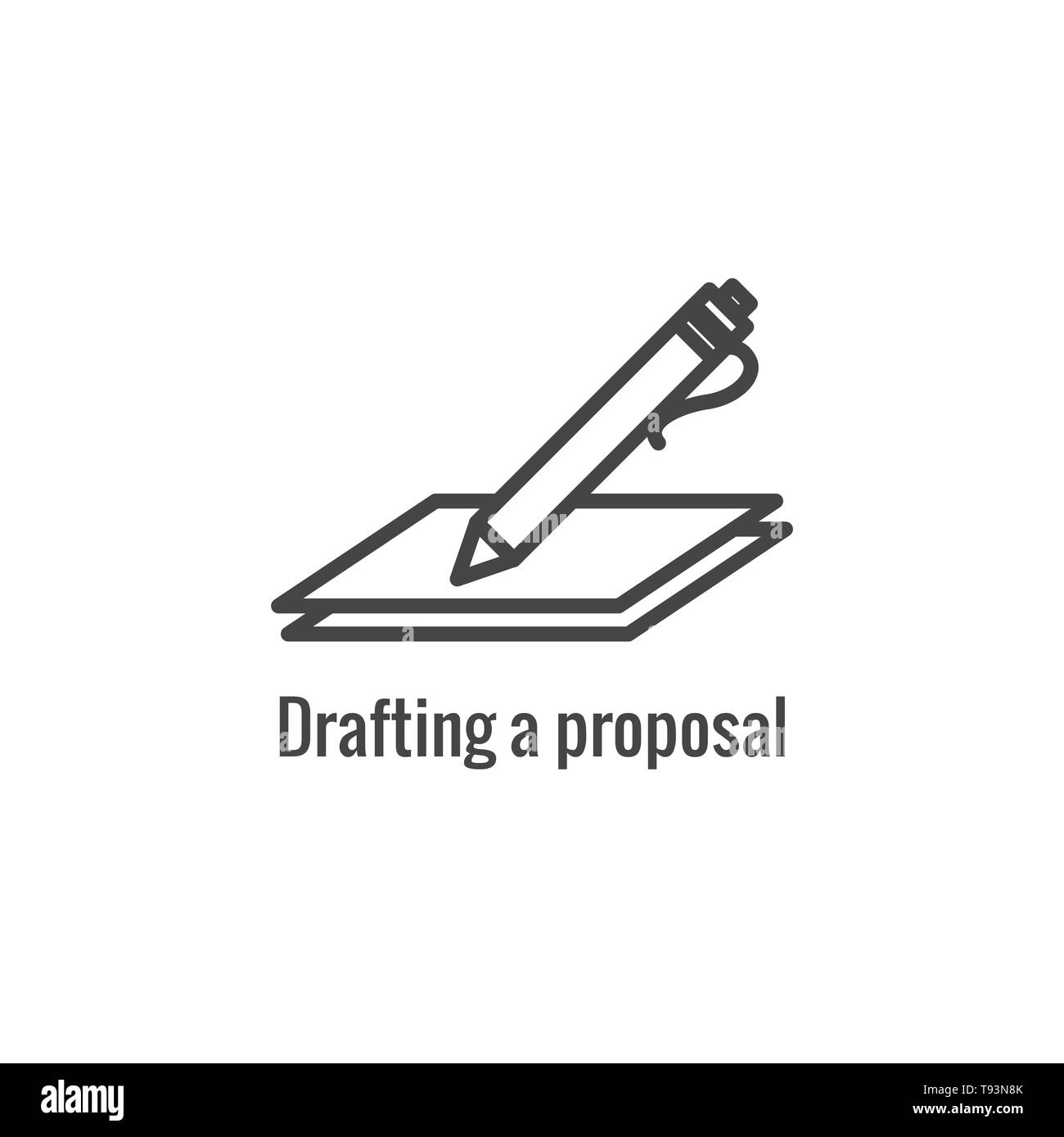 New Business Process Icon - Proposal Draft phase - Stock Vector