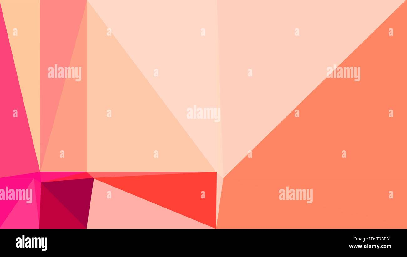 Abstract Color Triangles Geometric Background With Baby Pink