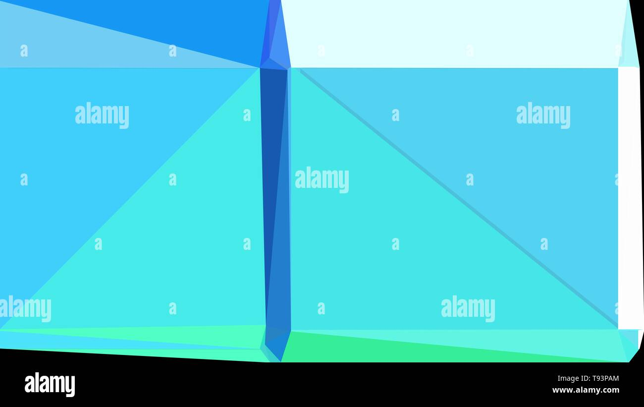Abstract Geometric Background With Turquoise Light Cyan And