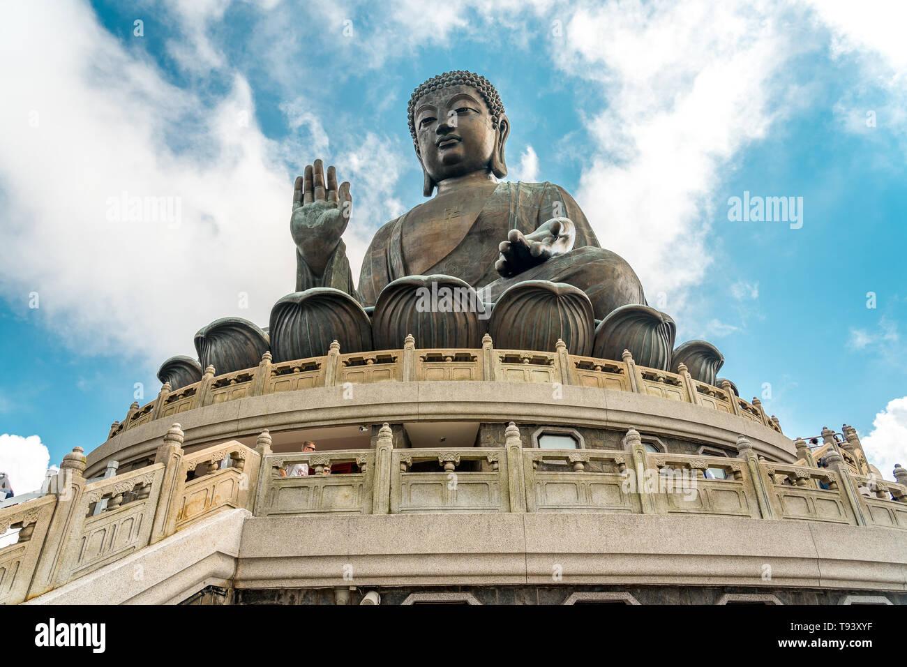 Hong Kong, China - Big Buddha statue - Stock Image
