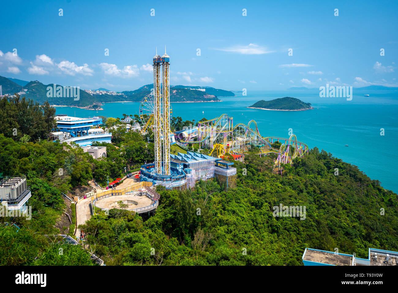 Hong Kong, China - Ocean Park - Hong Kong's amusement park - Stock Image