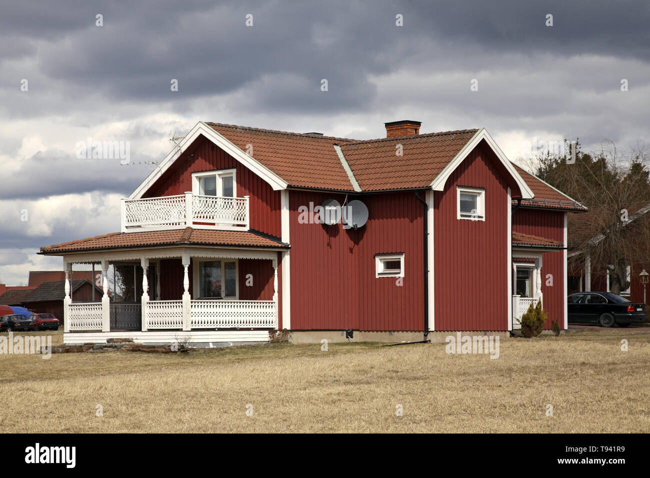 Building in Nusnas. Dalarna county. Sweden - Stock Image