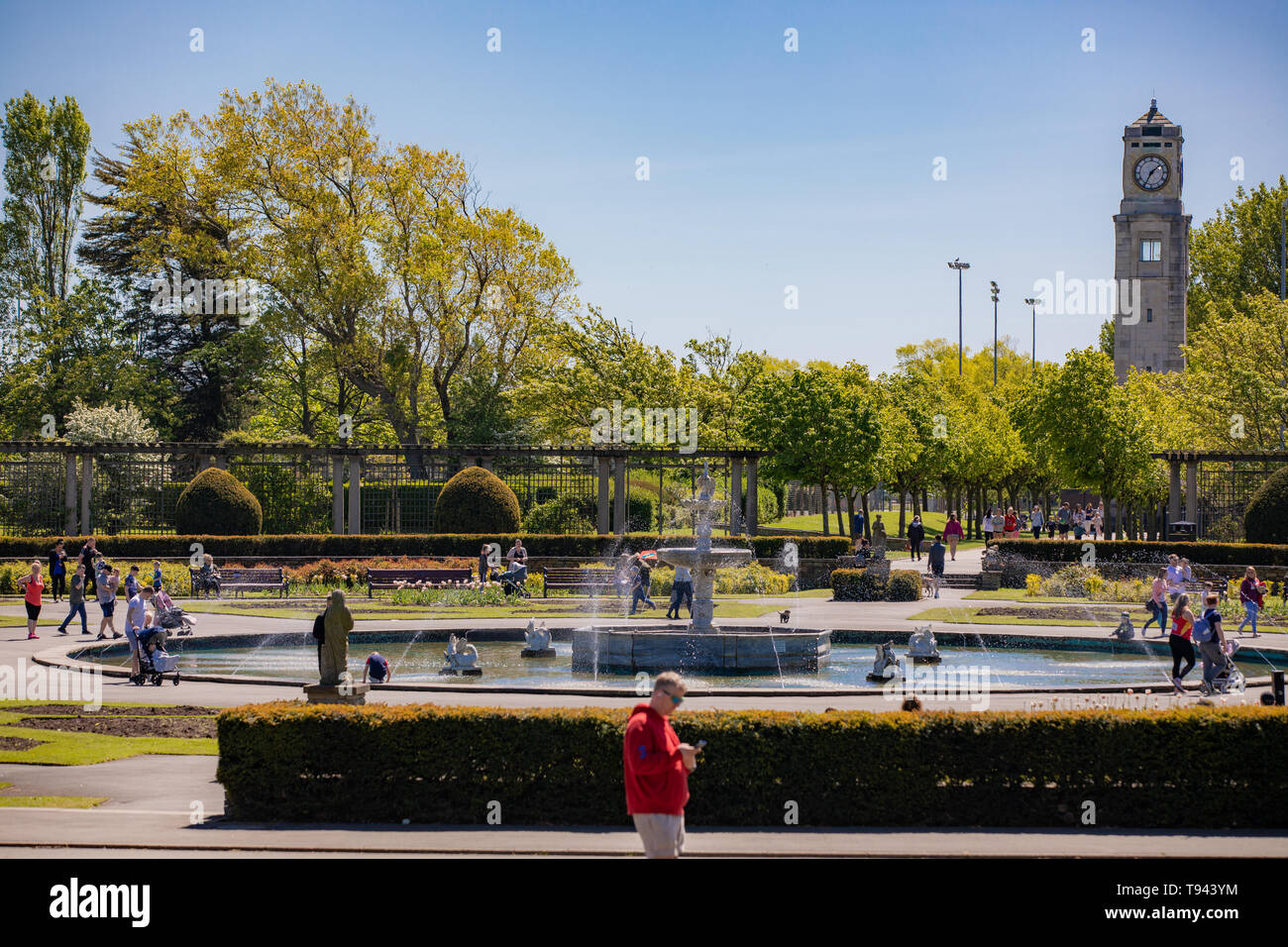 Stanley Park, Blackpool, Lancashire. 12th May 2019. The Italian Gardens in Stanley Park, Blackpool. Credit: Craig Searle Stock Photo