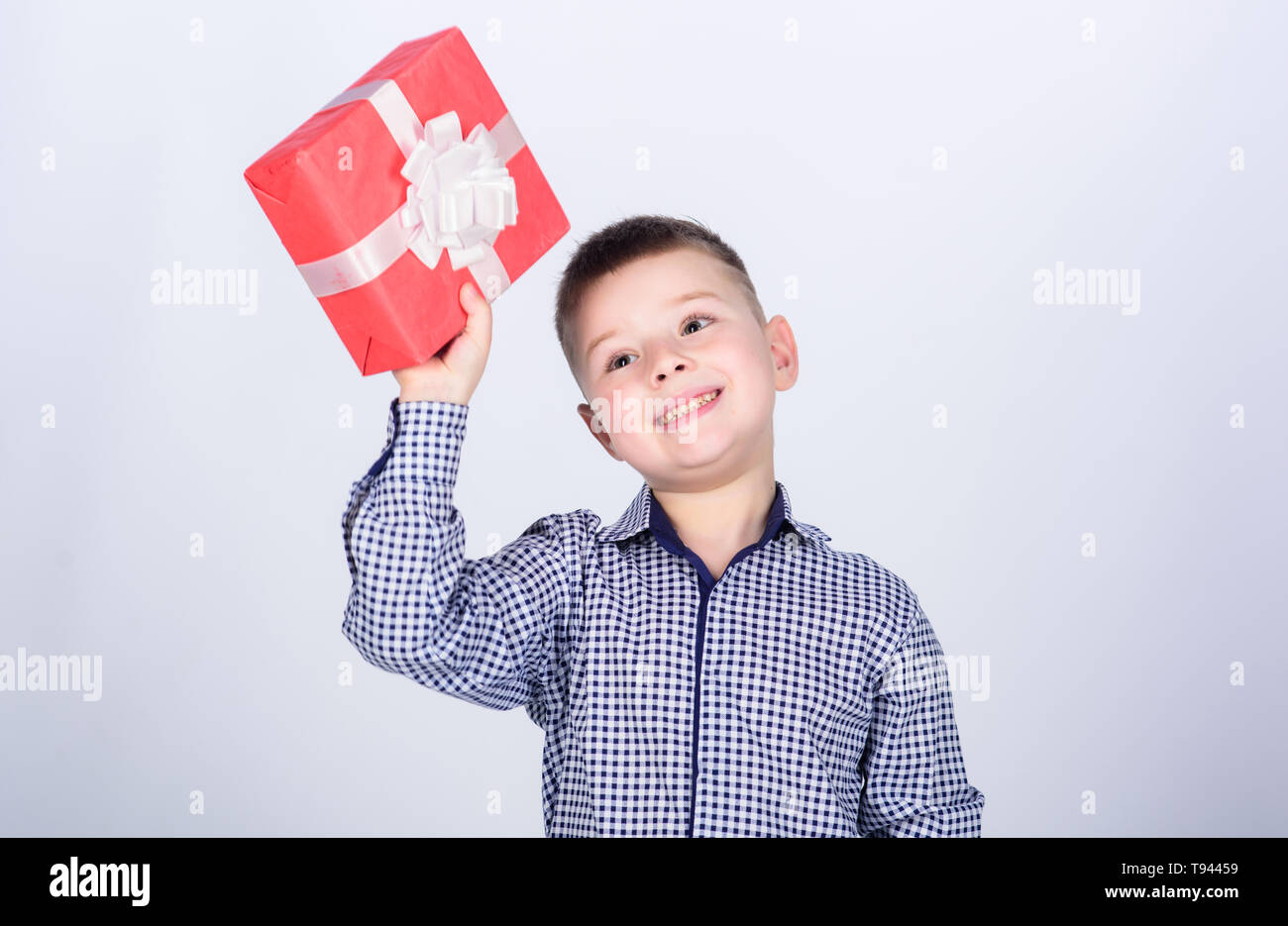 Birthday Gift Boy Buy Gifts Child Little Hold Box Christmas Or Holiday Shopping Seasonal Sale