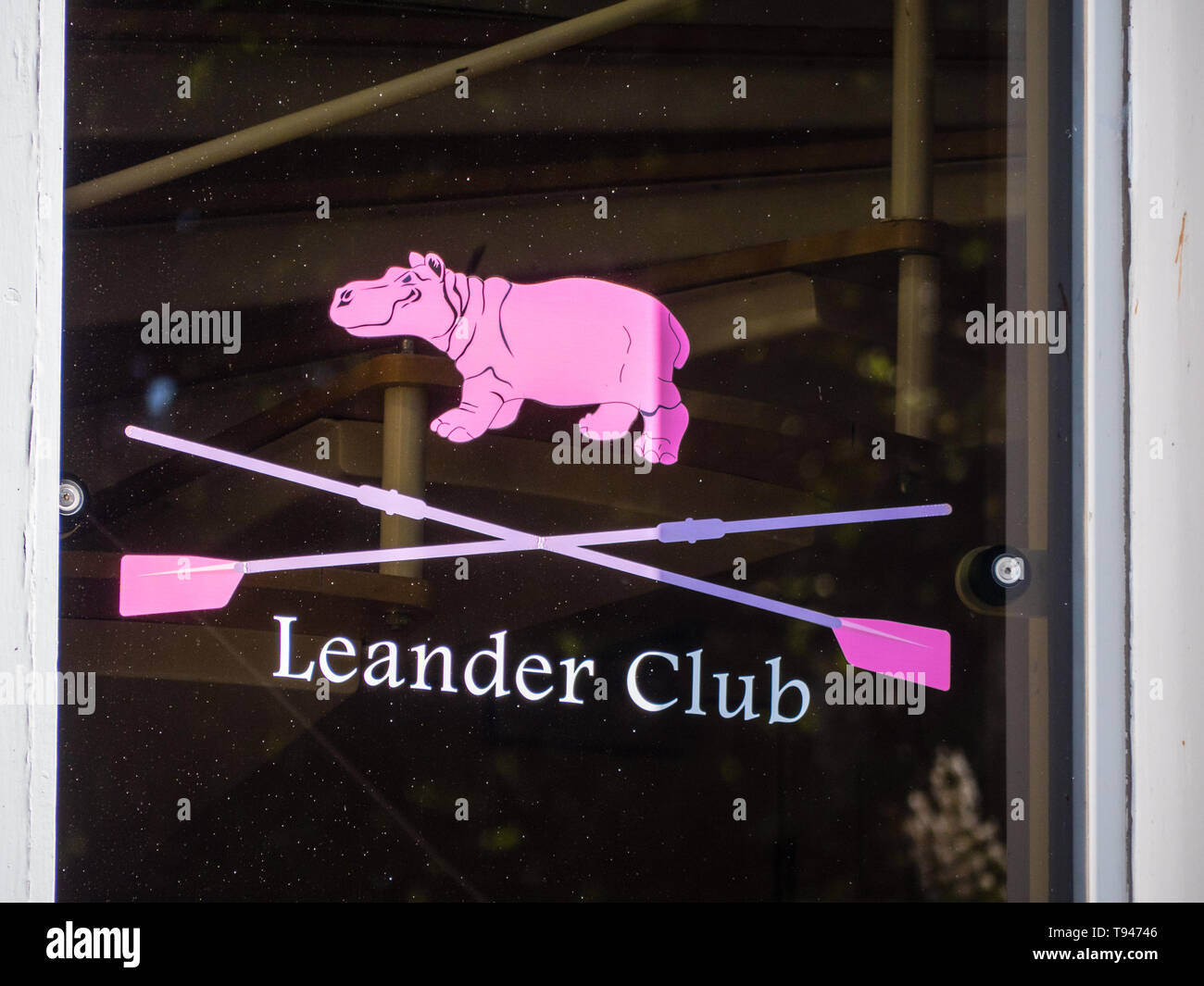 Leander Club, Third Oldest Rowing Club, in The World, Henley-on-Thames, Berkshire, England, UK, GB. Stock Photo