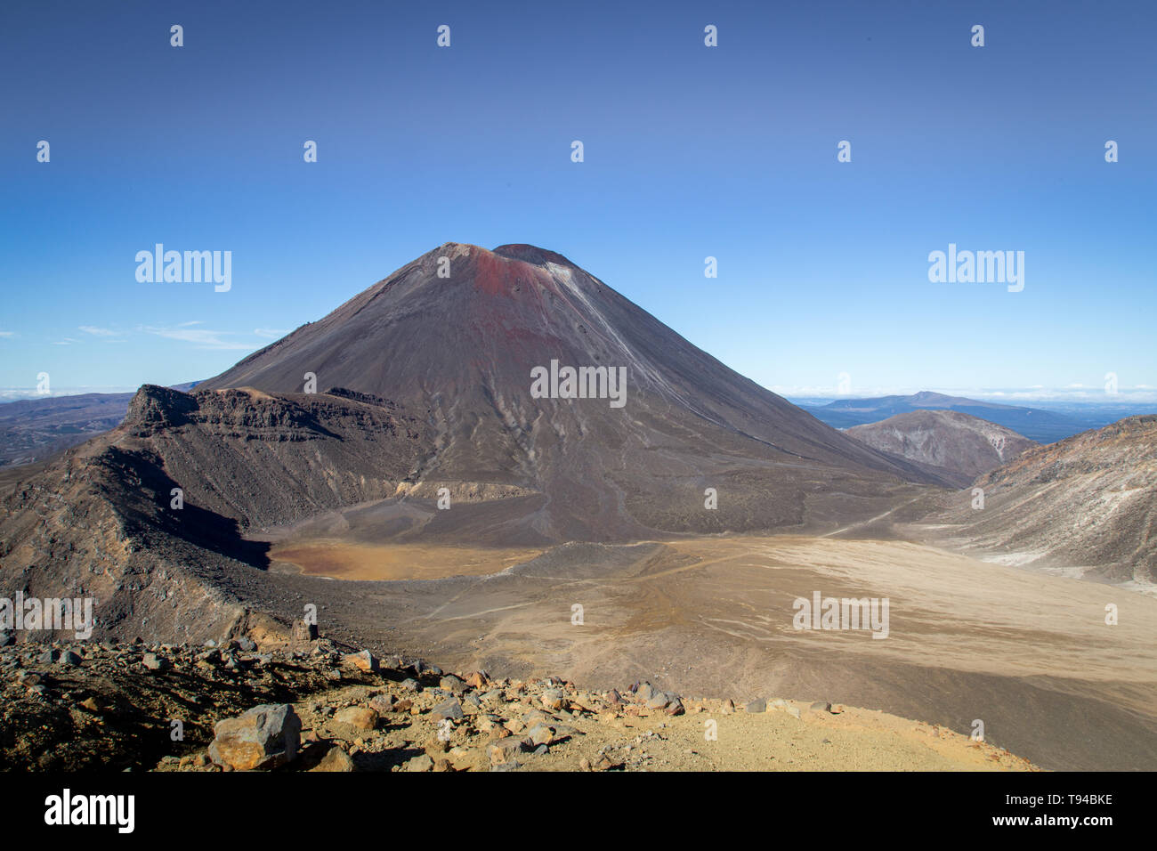 Mount Ngauruhoe in New Zealand - Stock Image