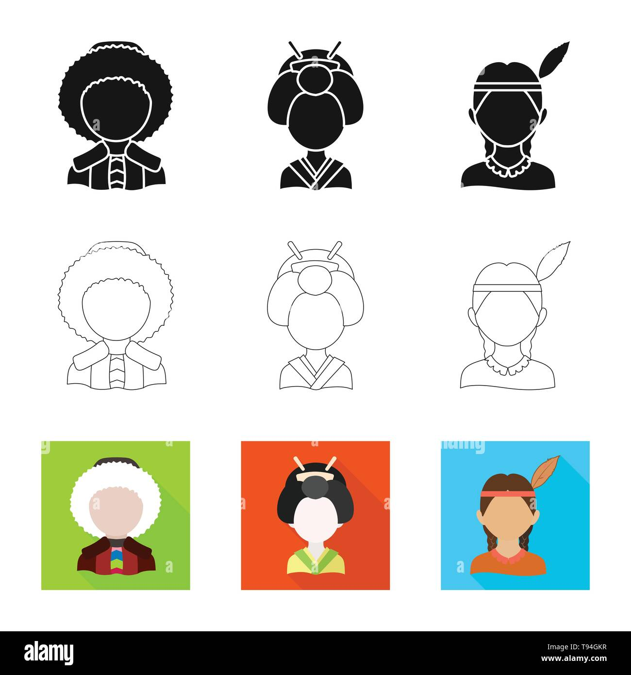 Vector illustration of imitator and resident sign. Set of imitator and culture stock symbol for web. - Stock Image