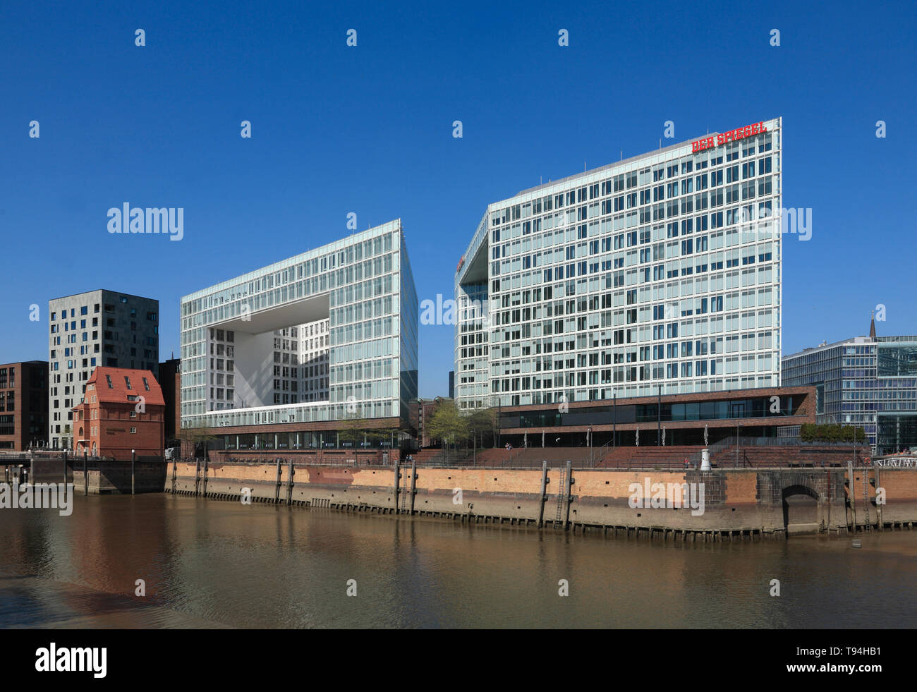 Spiegel-publishing house, Ericusspitze, Hafencity, Hamburg, Germany, Europe - Stock Image