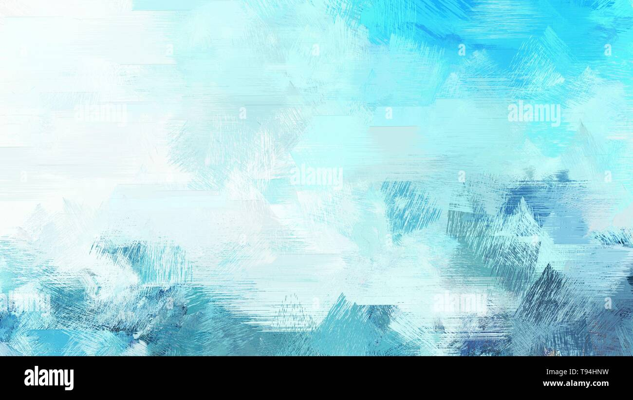 Light Cyan Medium Turquoise And Sky Blue Color Painted