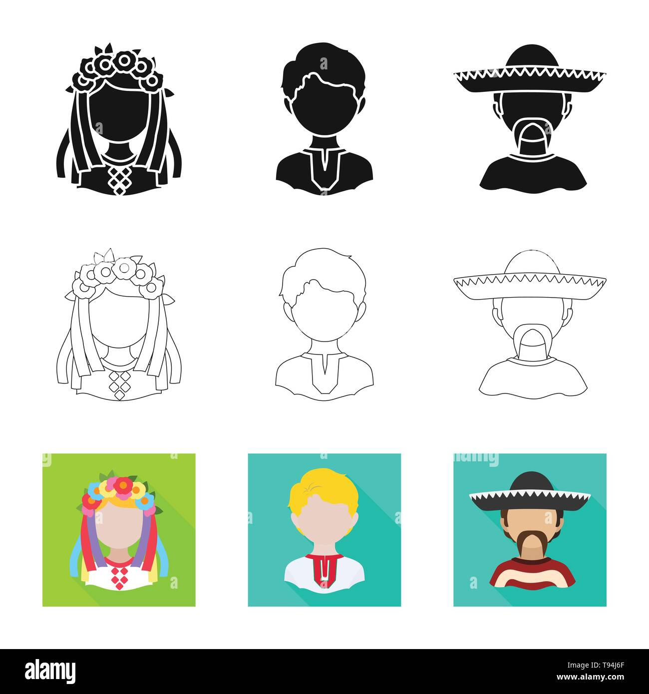 Isolated object of imitator and resident logo. Set of imitator and culture stock vector illustration. - Stock Image