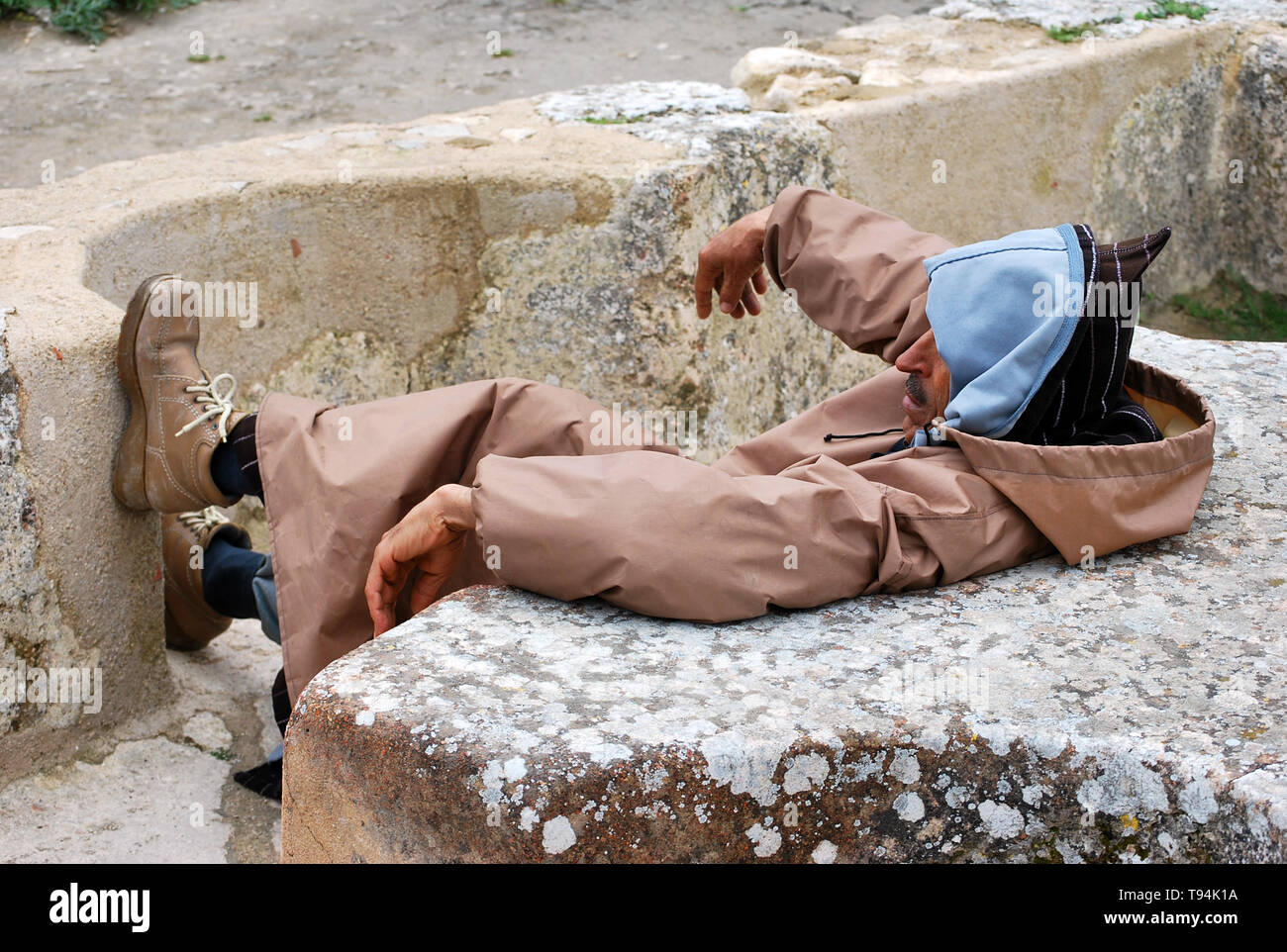 Portrait of a moroccan man, Meknès, Morocco - Stock Image