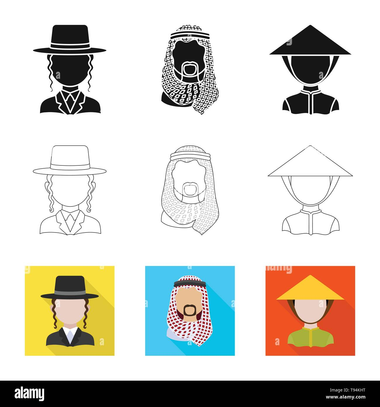 Vector illustration of imitator and resident logo. Collection of imitator and culture stock symbol for web. - Stock Image