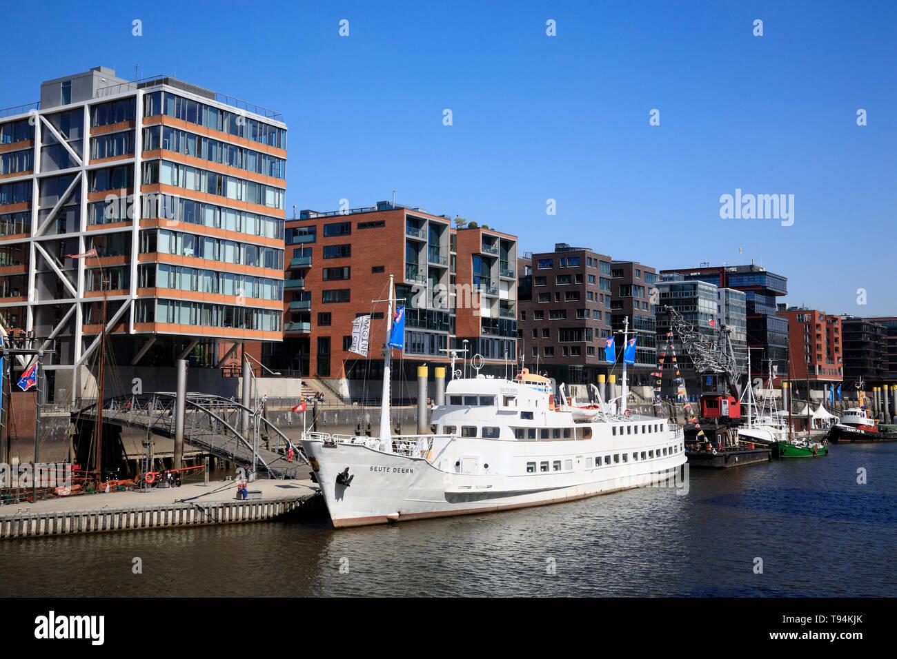 Sandtorharbour, histoprical ships,  Hamburg, Germany, Europe Stock Photo