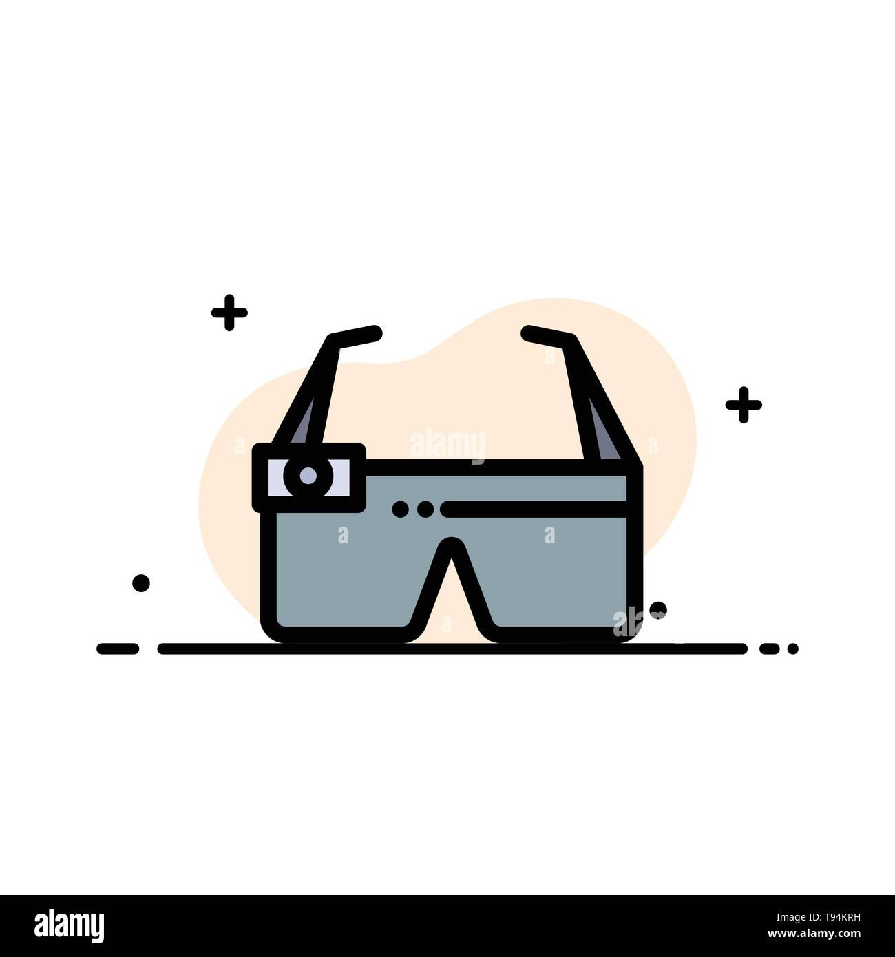 Device, Glasses, Google Glass, Smart Business Flat Line