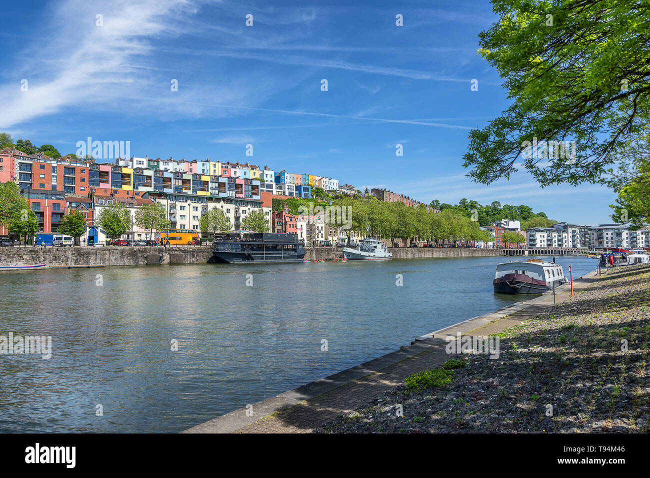 Harbourside on the floating harbour in Bristol - Stock Image