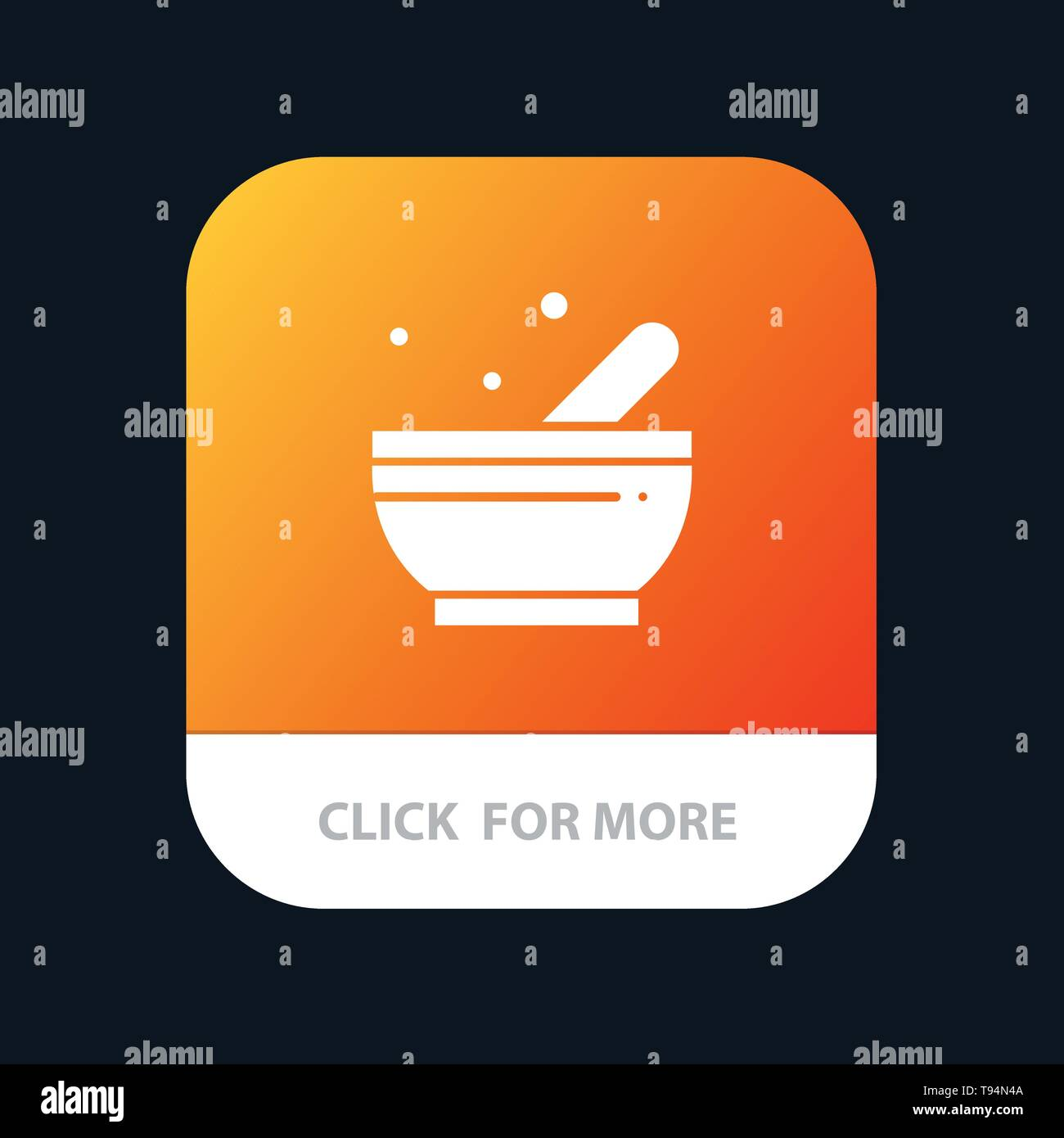 Bowl, Soup, Science Mobile App Button  Android and IOS Glyph Version