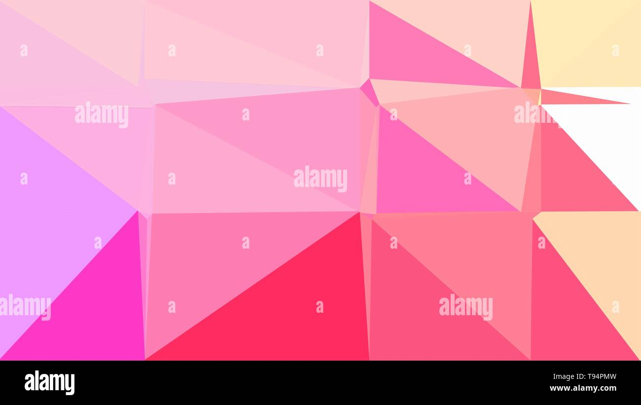 Pastel Magenta Light Pink And Deep Pink Color Geometric