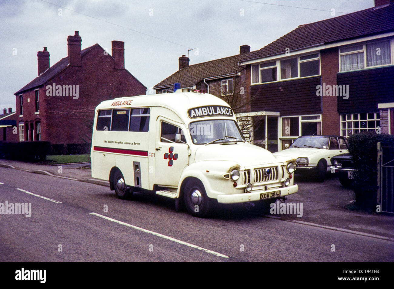 West Midlands Metropolitan Ambulance Service, Bedford J Lomas. Image taken during the early 1970s Stock Photo